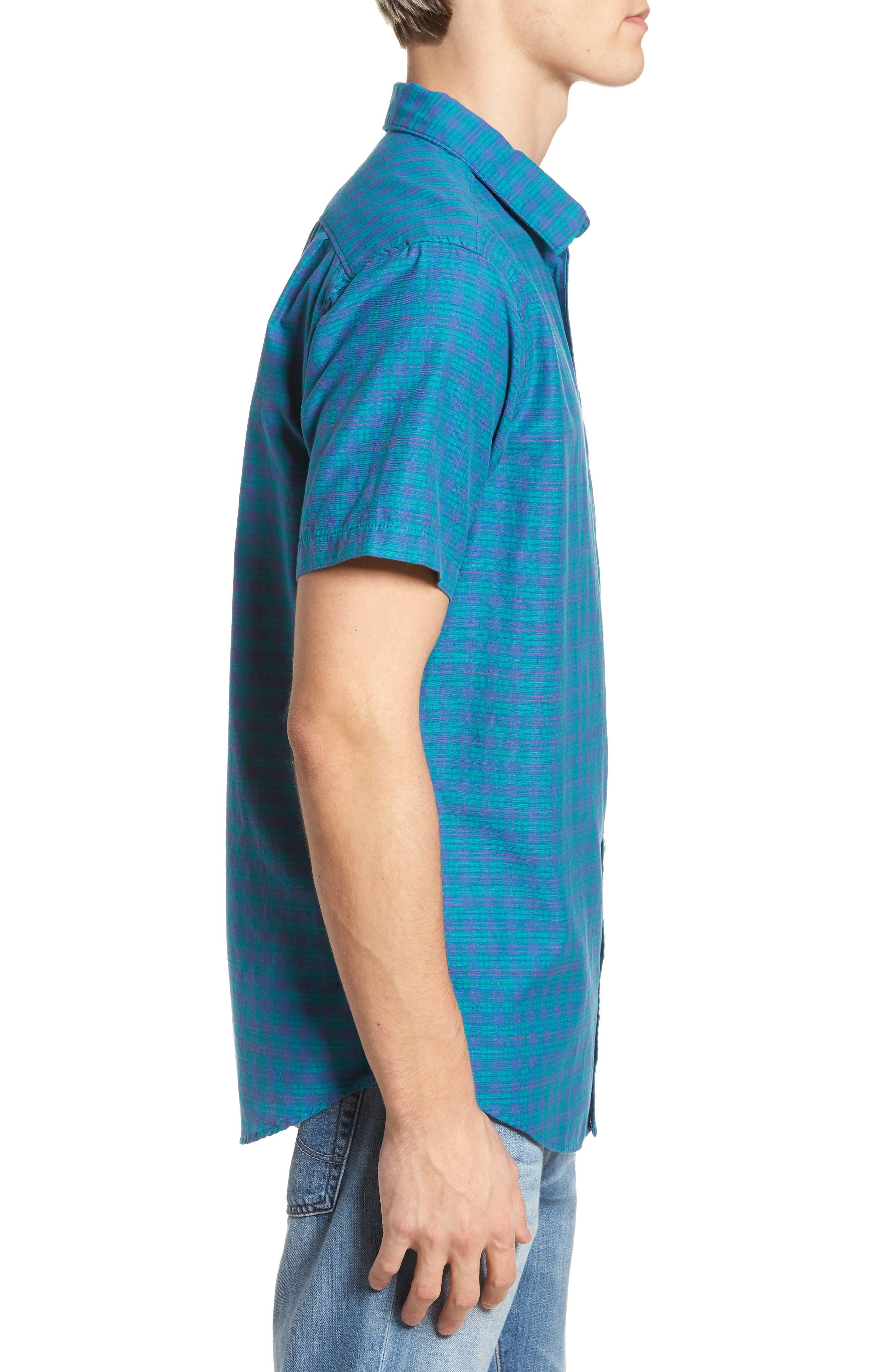 Delivery Woven Shirt,                             Alternate thumbnail 3, color,                             Cobalt