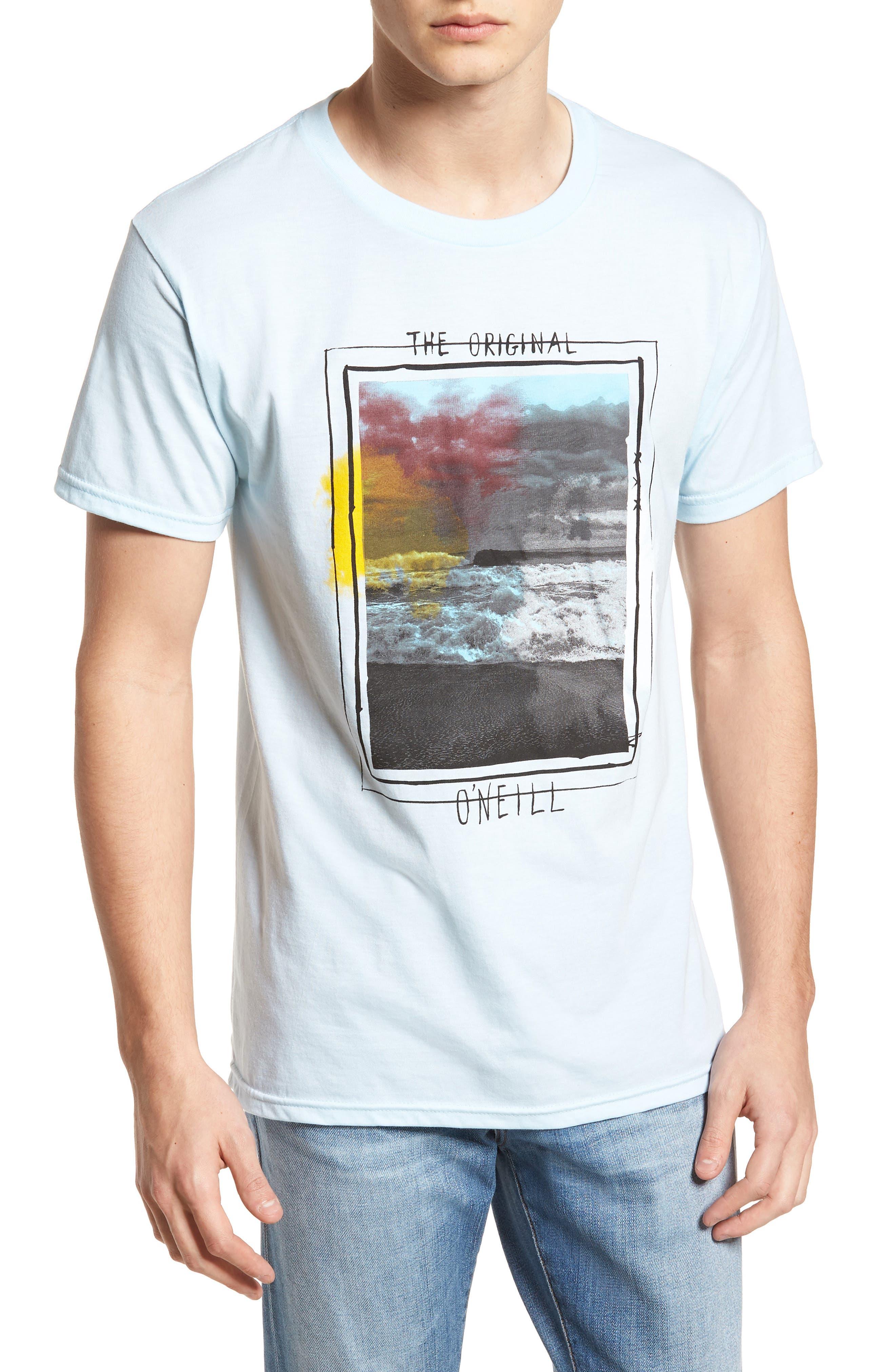 Tide Graphic T-Shirt,                             Main thumbnail 1, color,                             Light Blue Heather