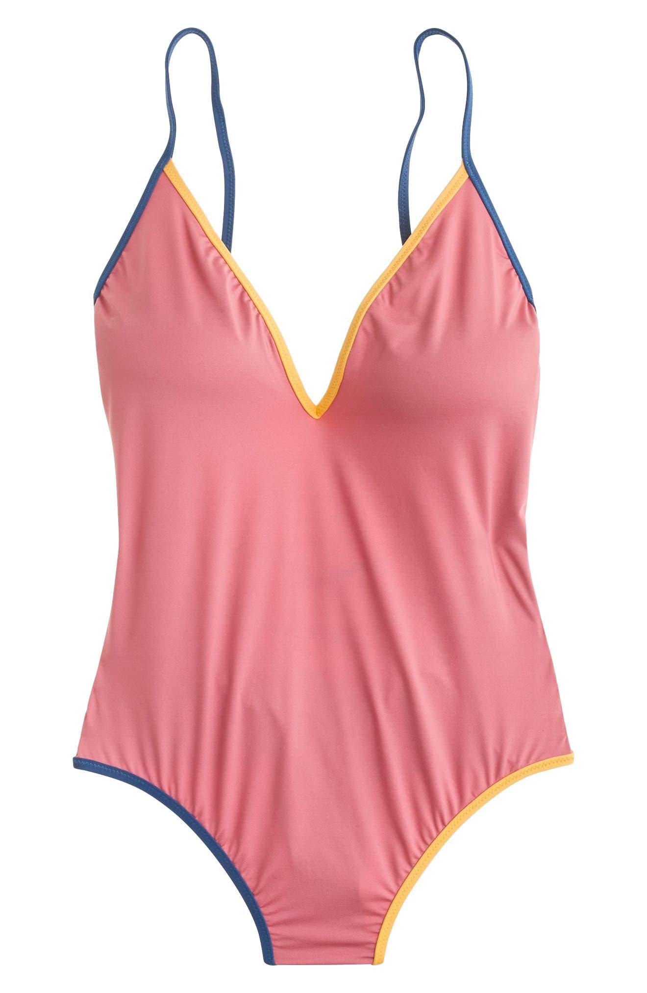Playa Montauk Strappy One-Piece Swimsuit,                             Alternate thumbnail 6, color,                             Vintage Pink Multi