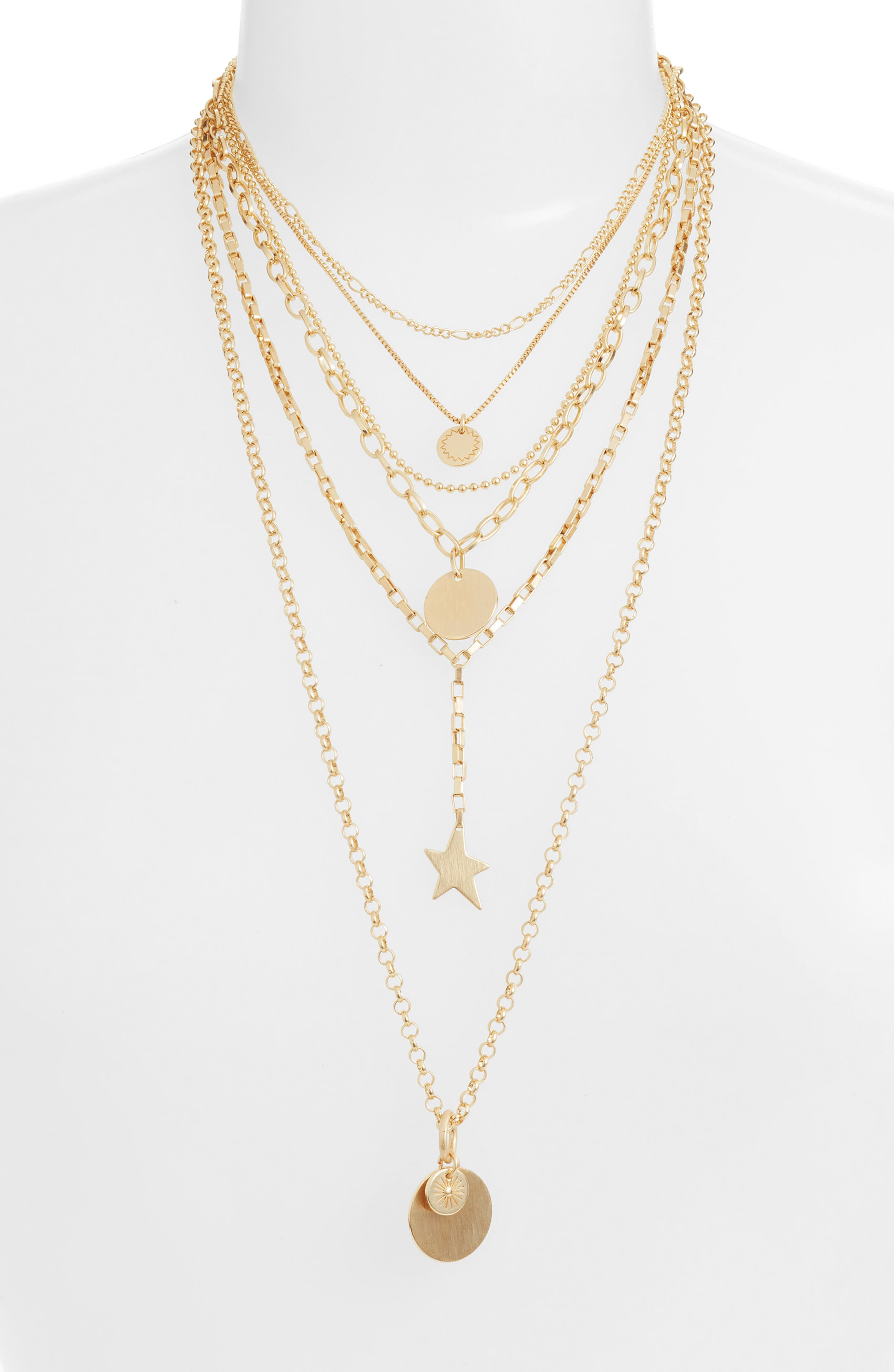 Rebecca Minkoff Medallion Layered Statement Necklace