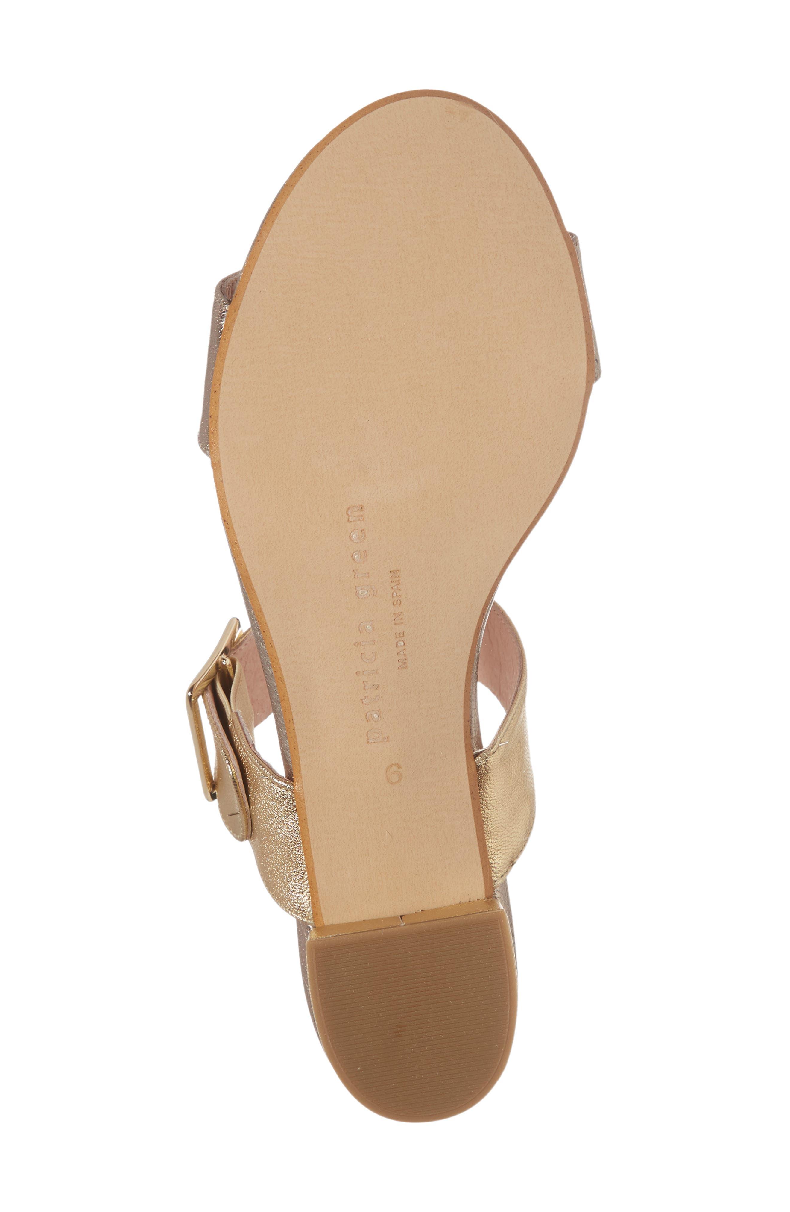 Ruth Slide Sandal,                             Alternate thumbnail 6, color,                             Gold/ Bronze Leather