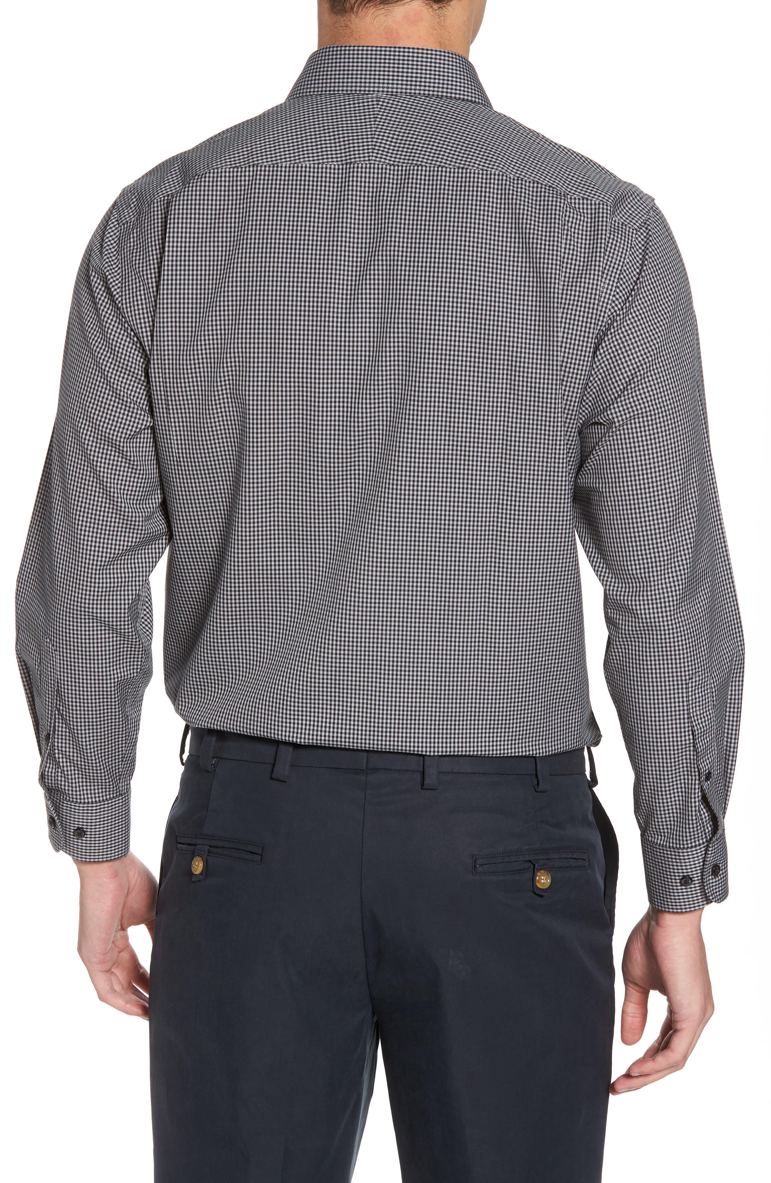 Smartcare<sup>™</sup> Traditional Fit Check Dress Shirt,                             Alternate thumbnail 3, color,                             Black Rock