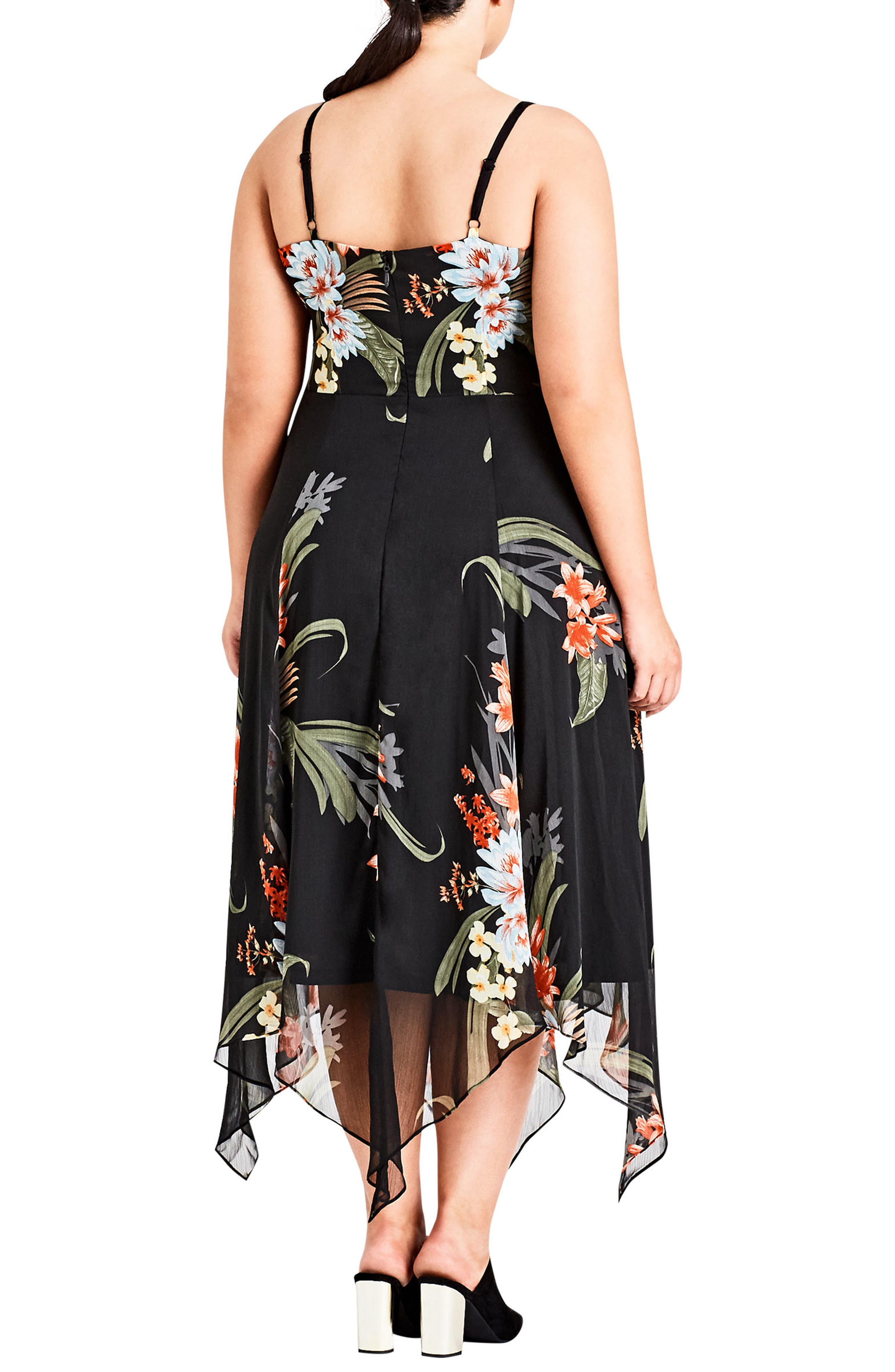 Floridity Sundress,                             Alternate thumbnail 2, color,                             Black