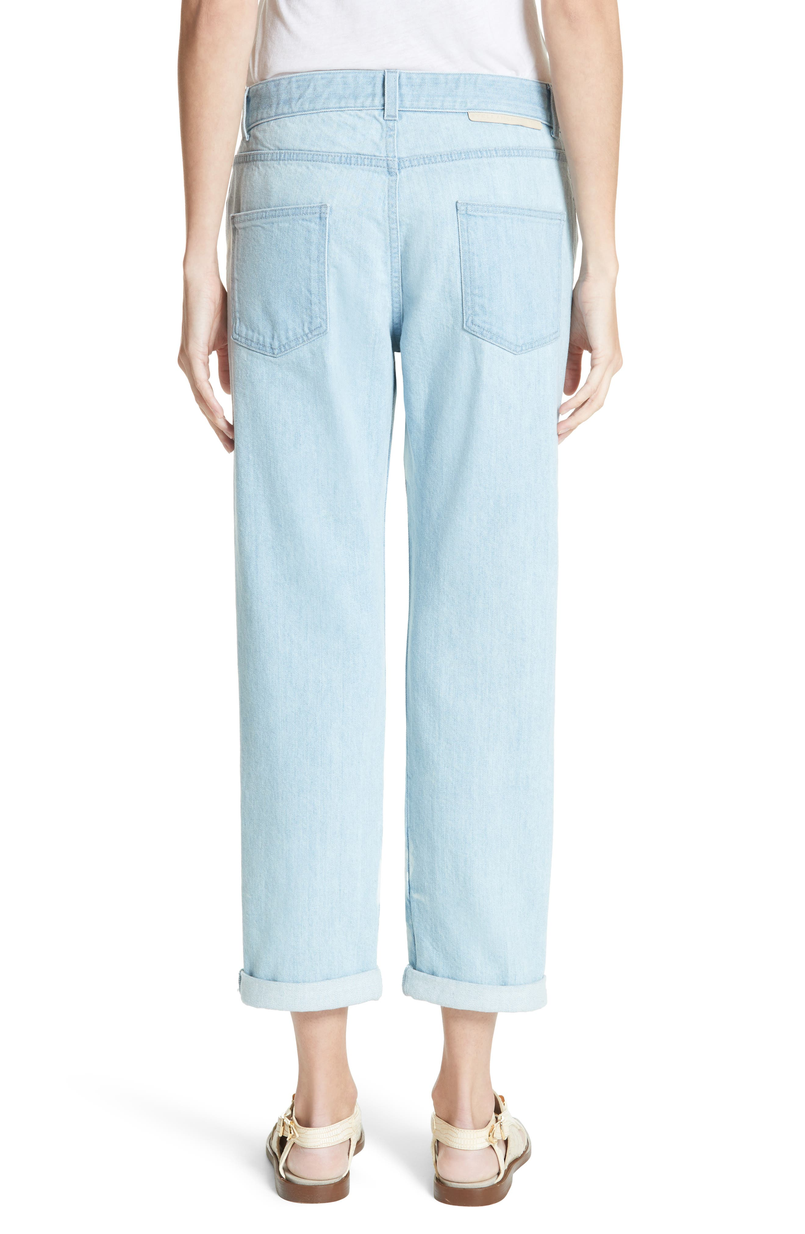 Tie Dye Boyfriend Jeans,                             Alternate thumbnail 3, color,                             Light Blue