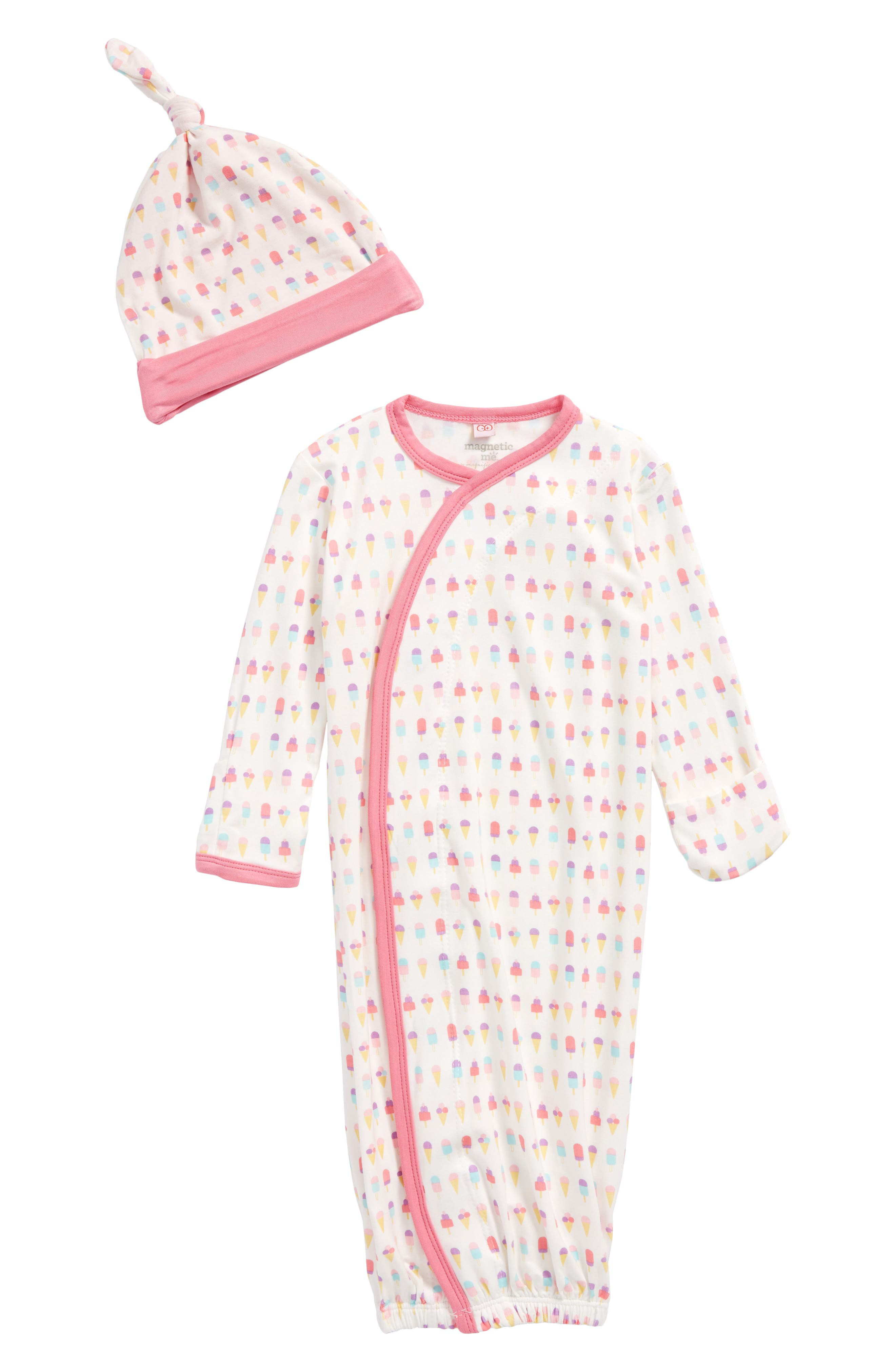 Magnetic Me Ice Cream Gown & Hat Set Baby Girls