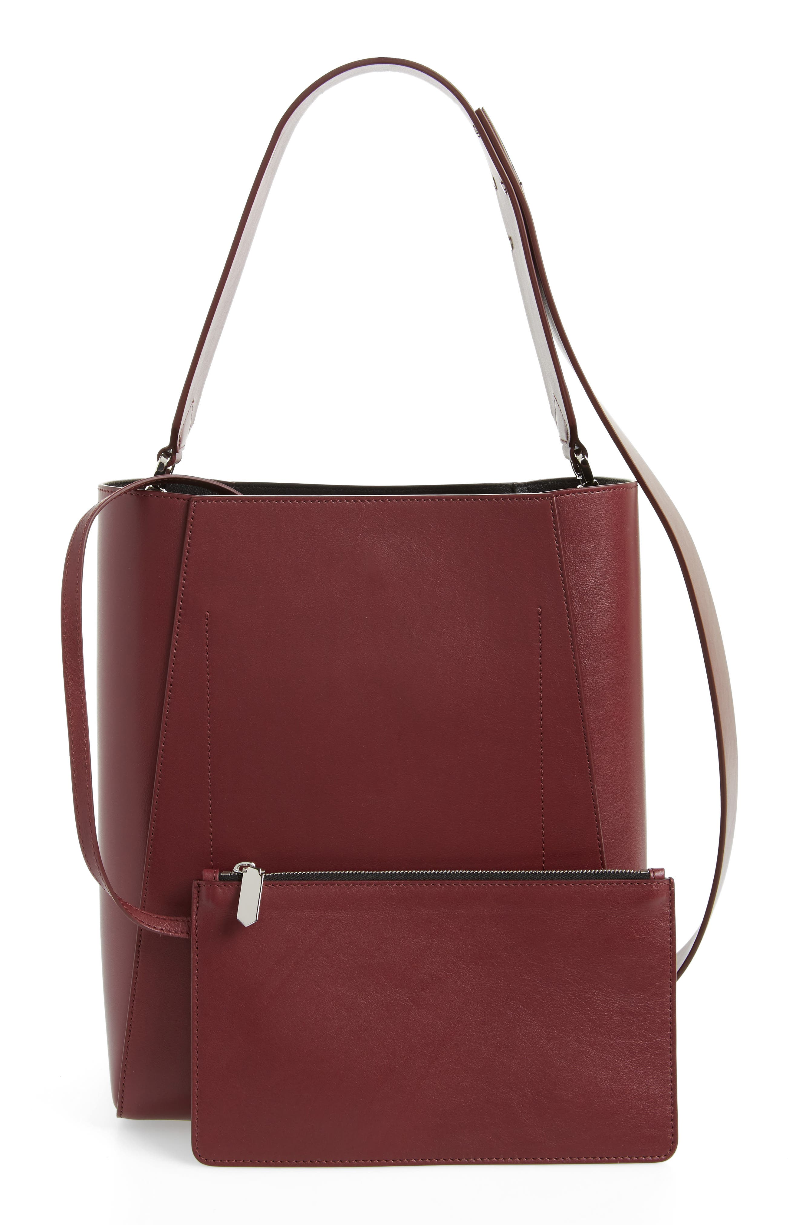 Alternate Image 3  - CALVIN KLEIN 205W39NYC Medium Calfskin Leather Bucket Bag with Removable Pouch