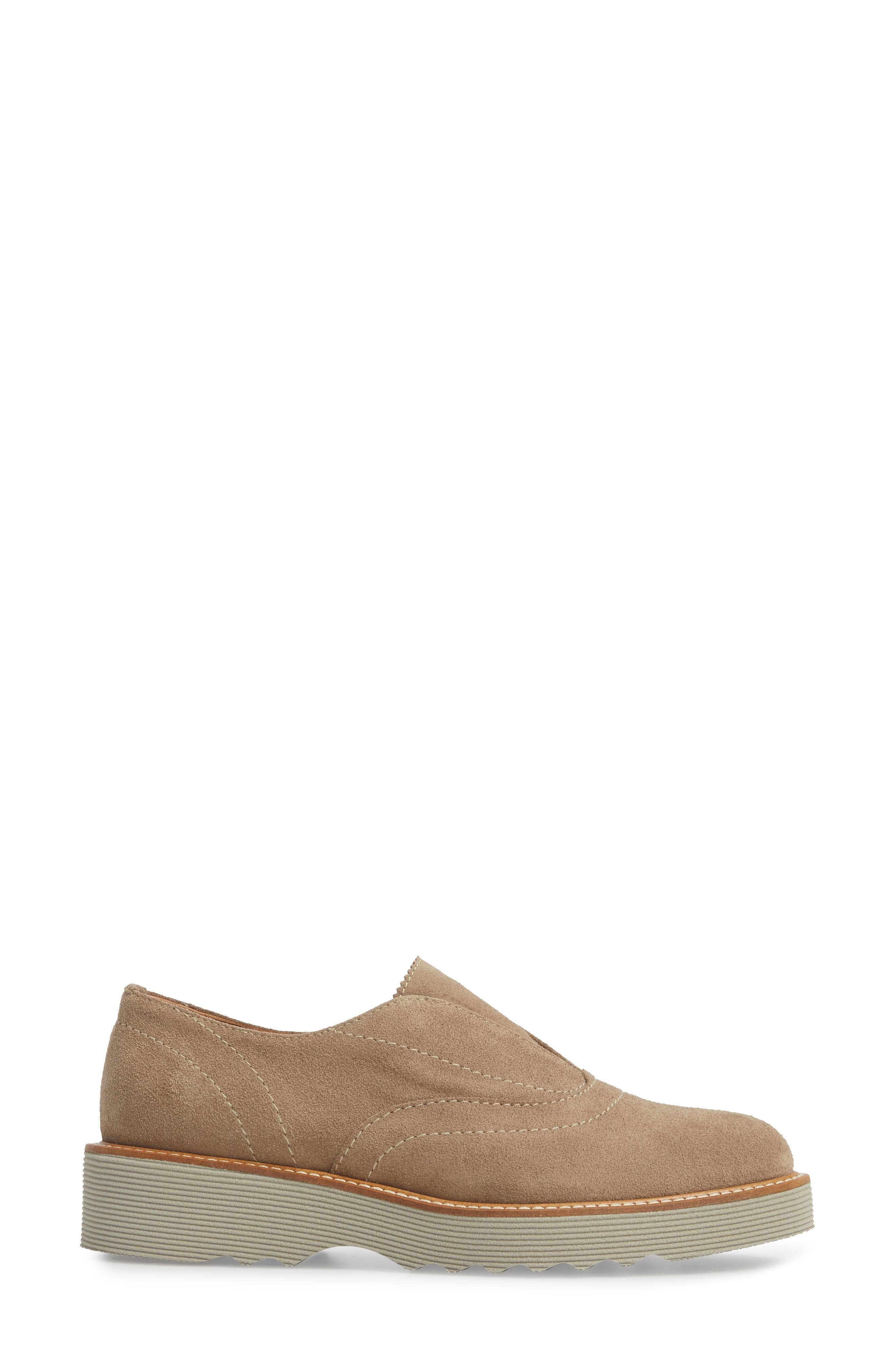 Kaleigh Weatherproof Loafer,                             Alternate thumbnail 3, color,                             Taupe