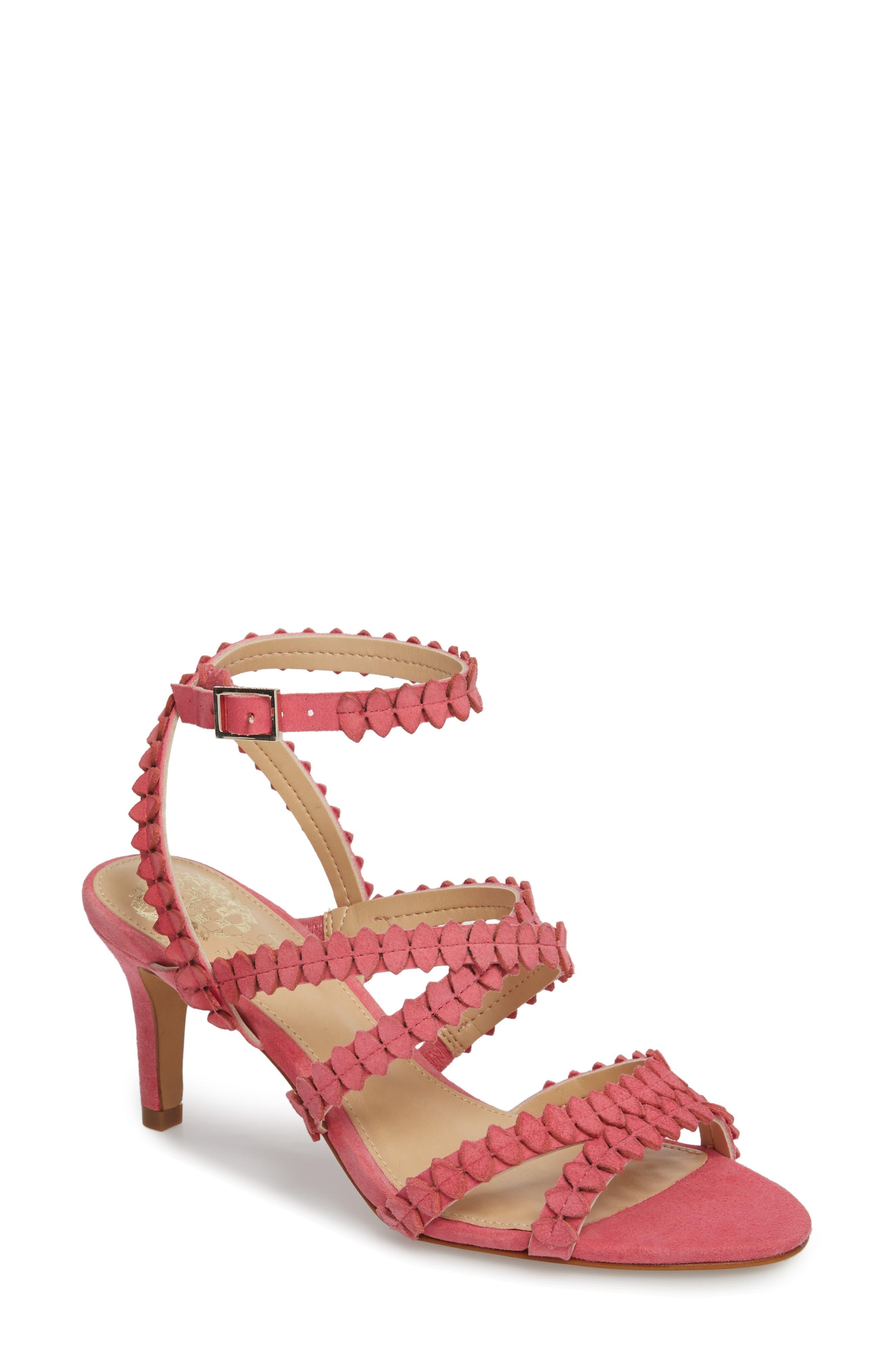 Yuria Sandal,                         Main,                         color, Soft Pink Suede