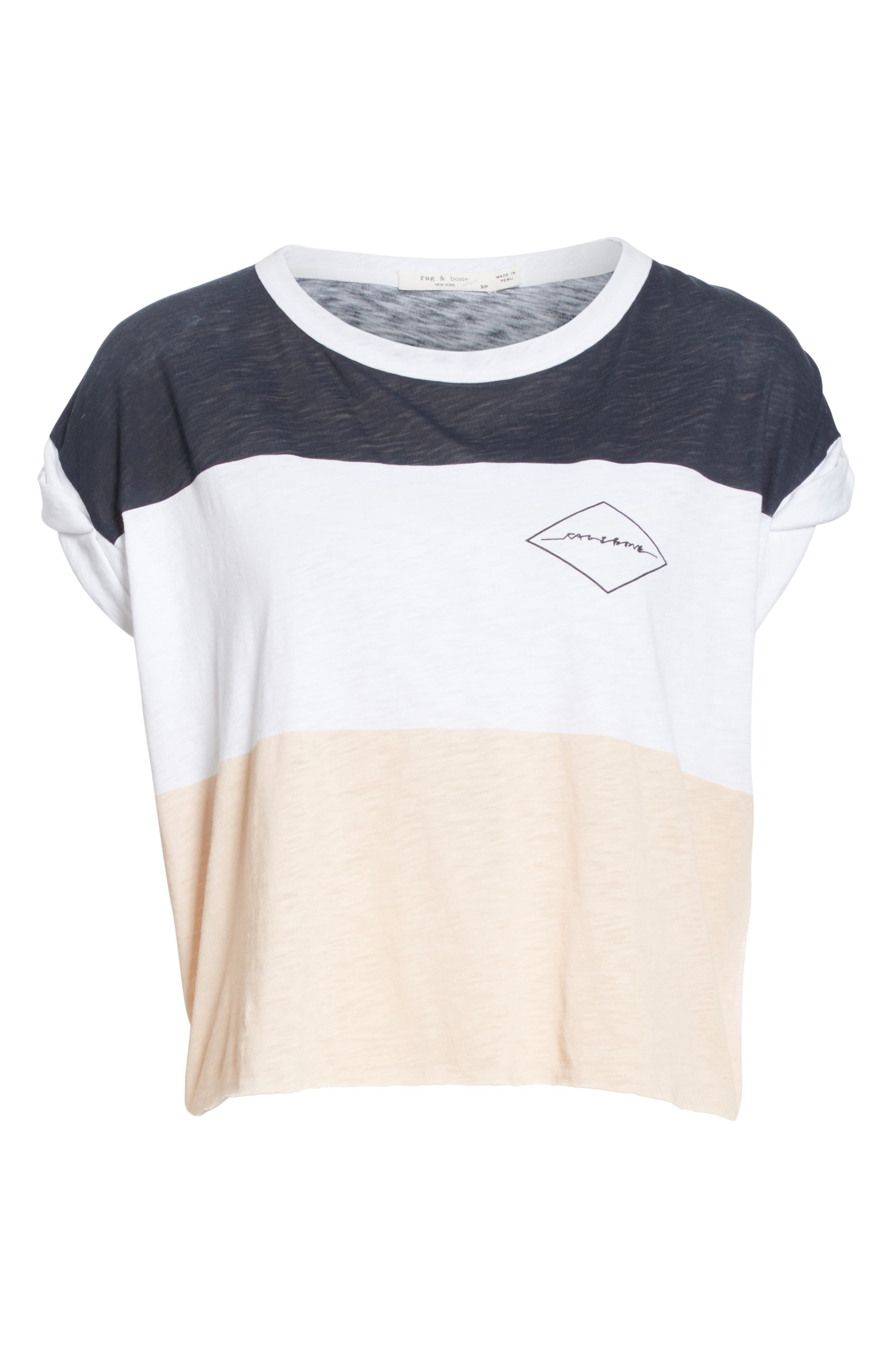 Percy Colorblock Muscle Tee,                             Alternate thumbnail 6, color,                             Navy Multi