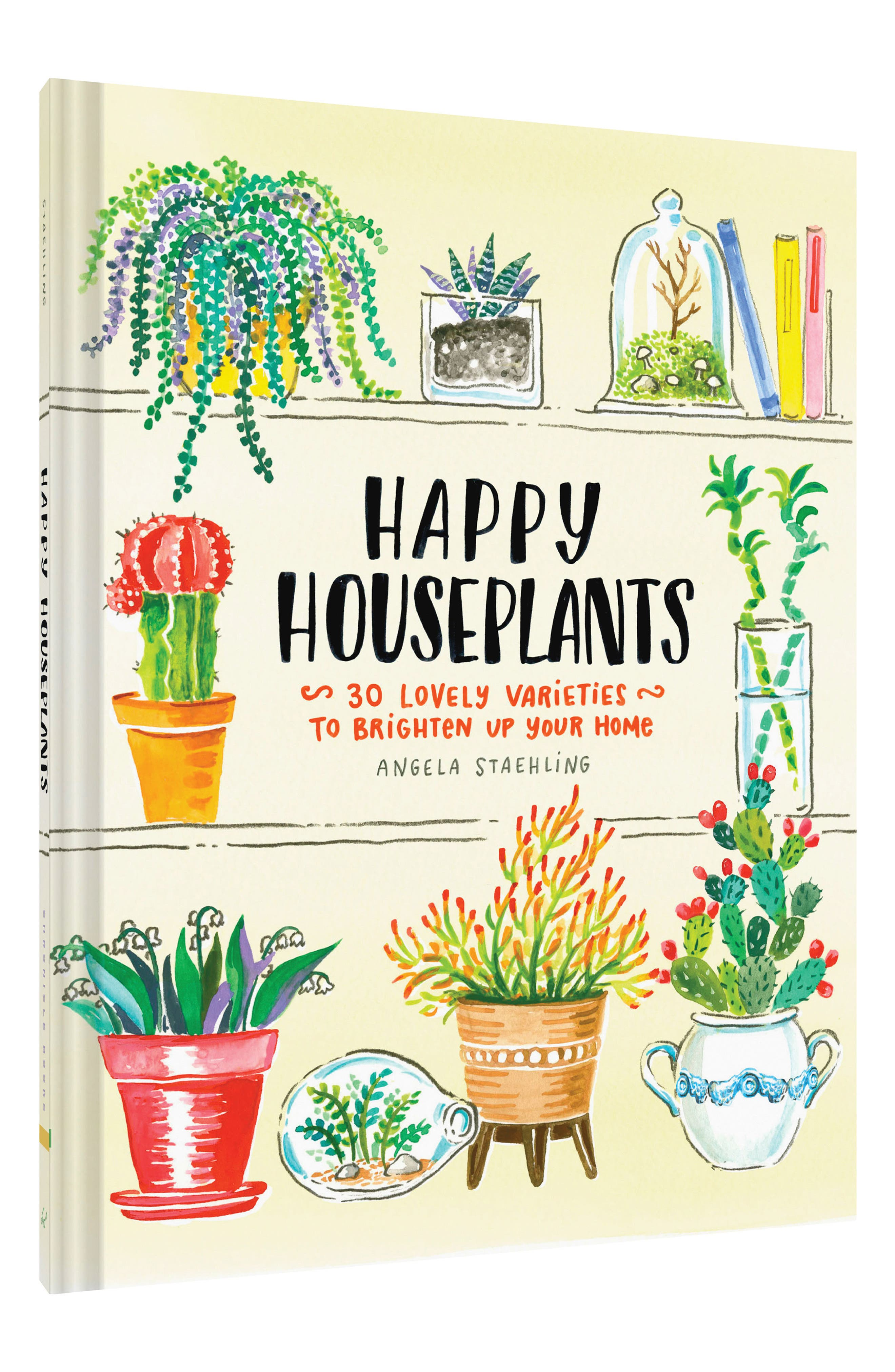 'Happy Houseplants: 30 Lovely Varieties to Brighten Up Your Home' Book,                         Main,                         color, Green