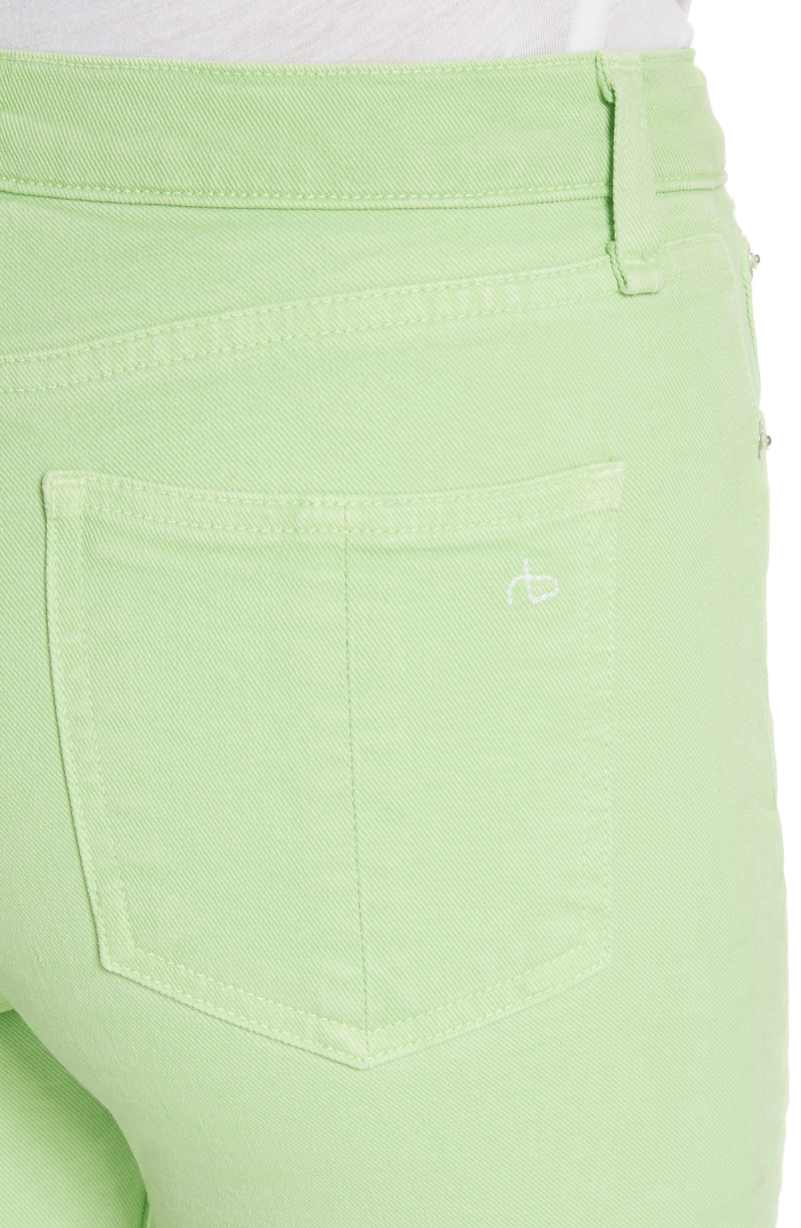 High Rise Skinny Jeans,                             Alternate thumbnail 4, color,                             Lime