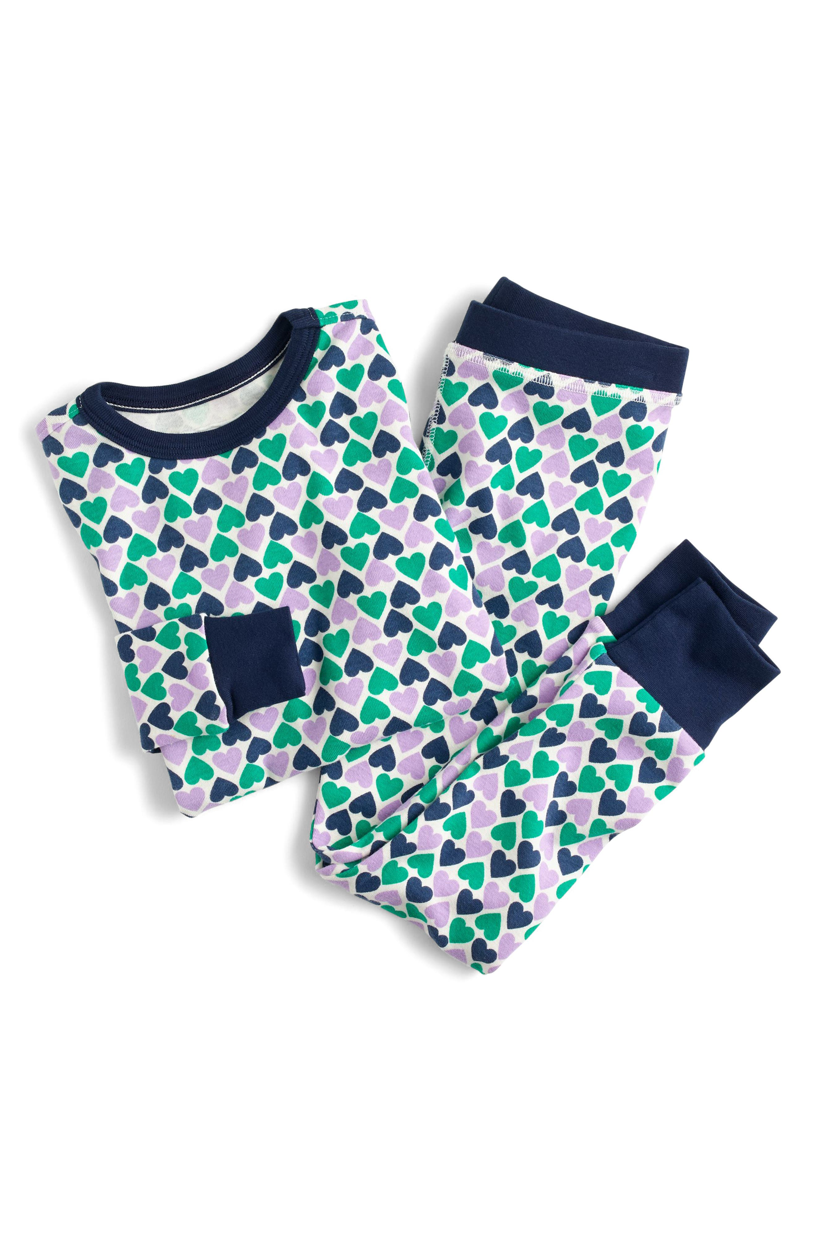 crewcuts Stacked Hearts Fitted Two-Piece Pajamas (Toddler Girls, Little Girls & Big Girls)