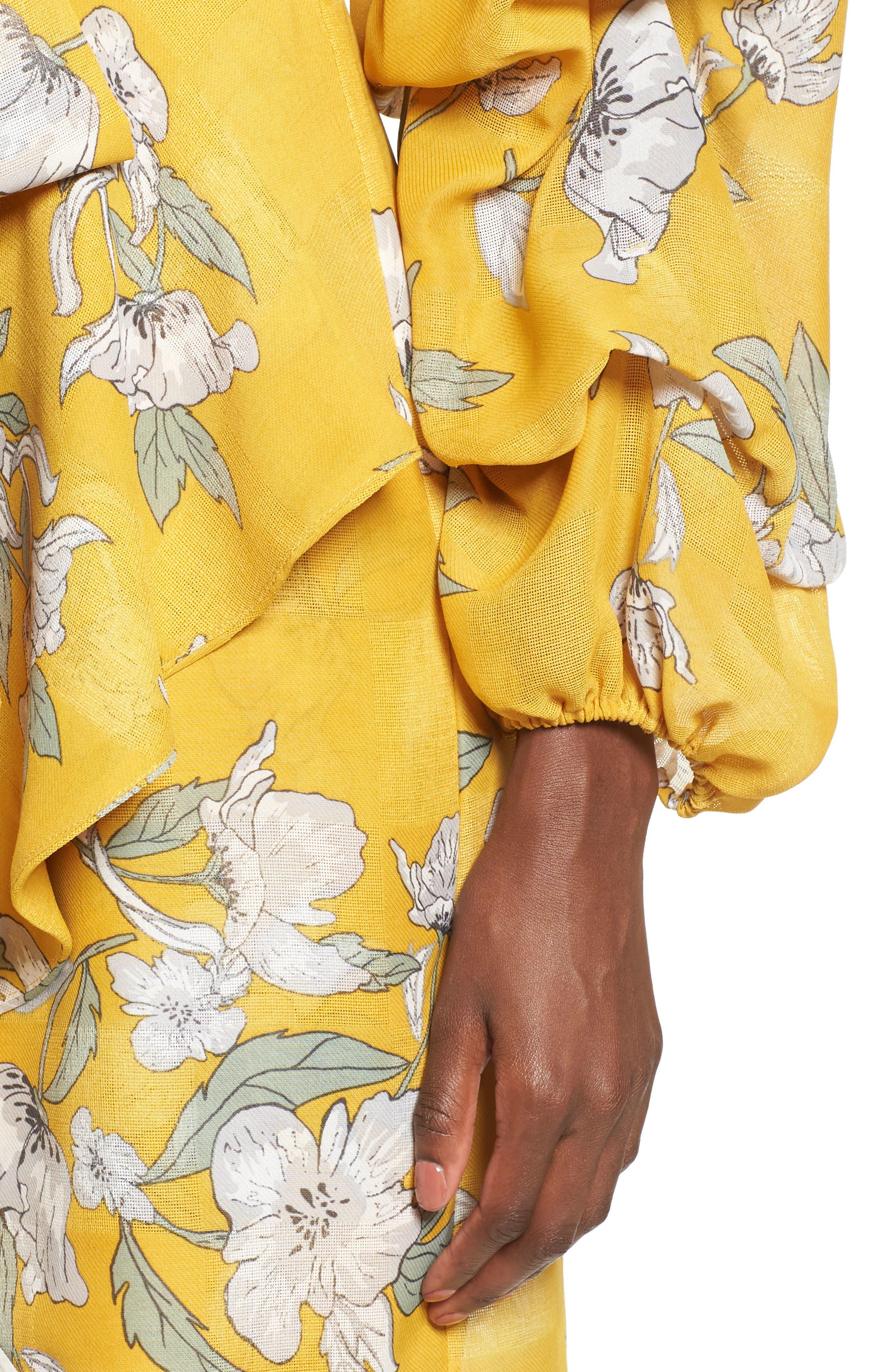 Alternate Image 7  - Chriselle x J.O.A. Tiered Sleeve Minidress