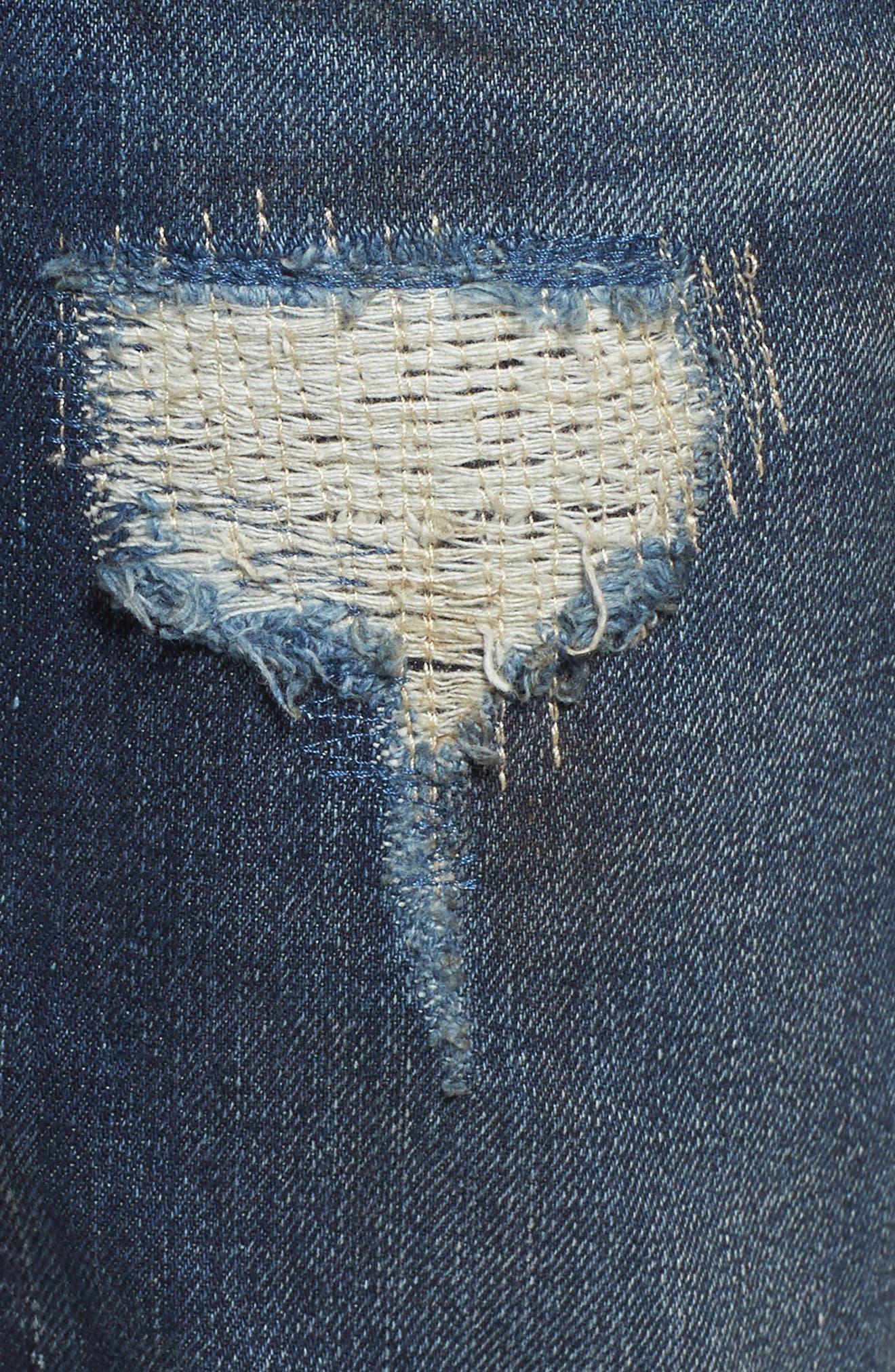 Denim Slim Straight Leg Jeans,                             Alternate thumbnail 5, color,                             Impact