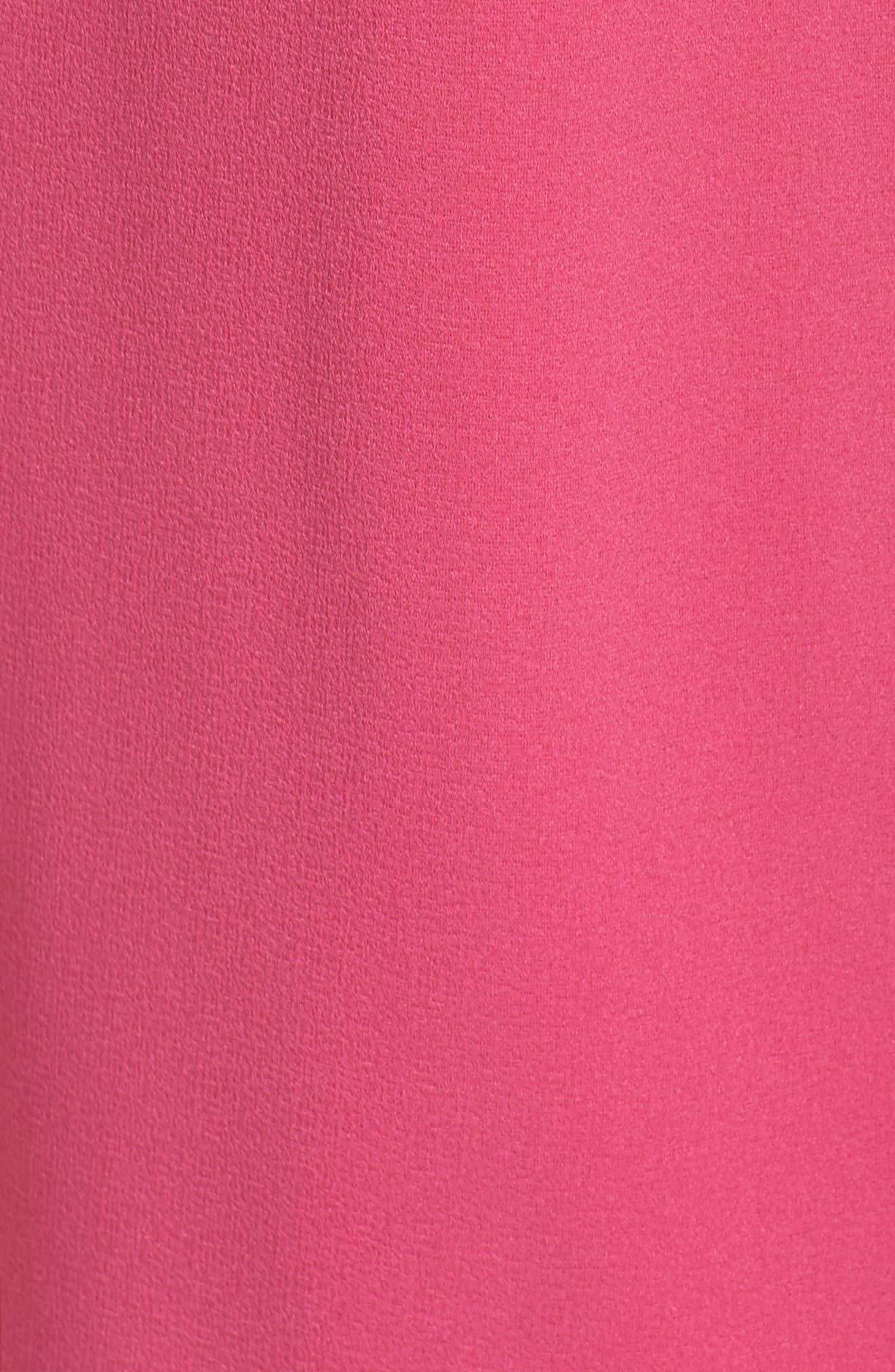 Bow Back Sleeveless Trapeze Dress,                             Alternate thumbnail 4, color,                             Magenta