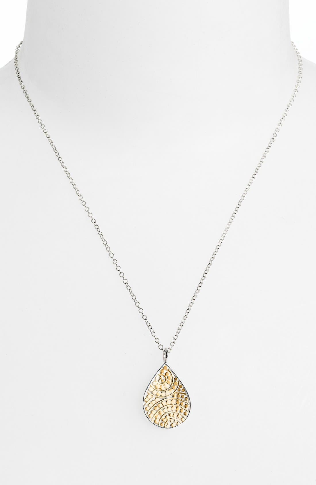 Alternate Image 1 Selected - Anna Beck 'Rajua' Small Reversible Teardrop Necklace