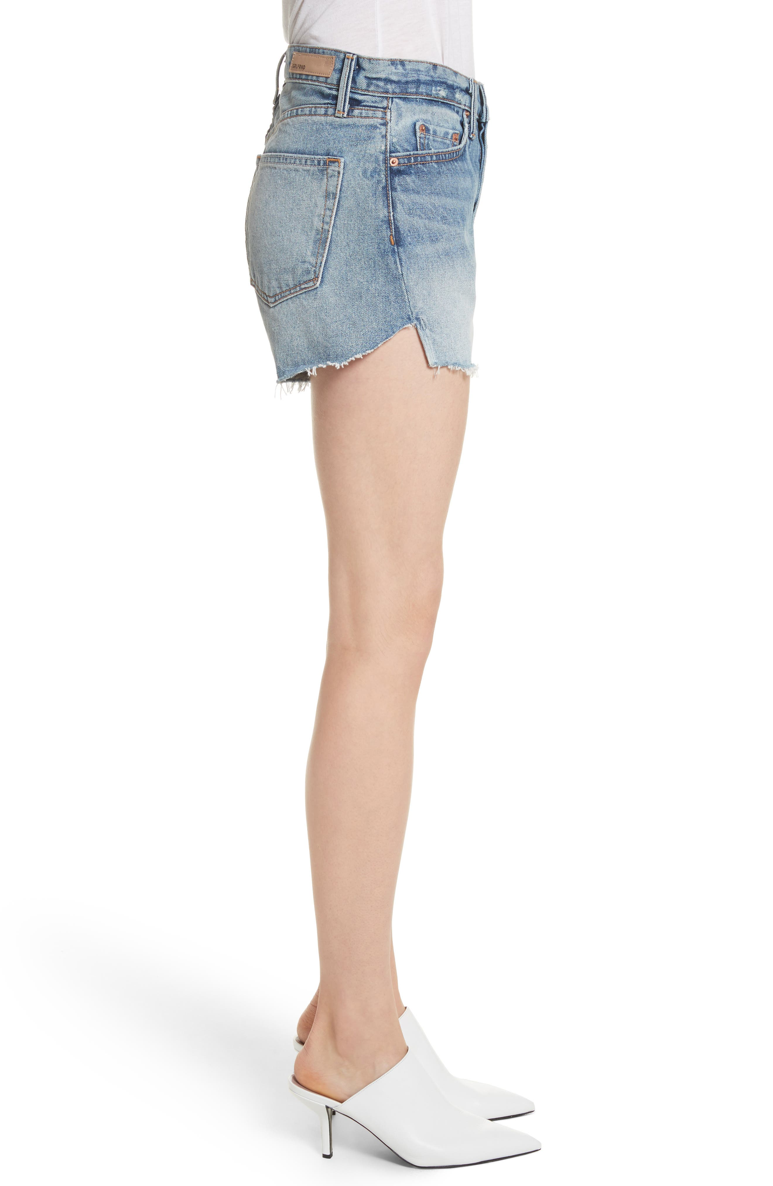 Mardee Denim Shorts,                             Alternate thumbnail 3, color,                             Twisted