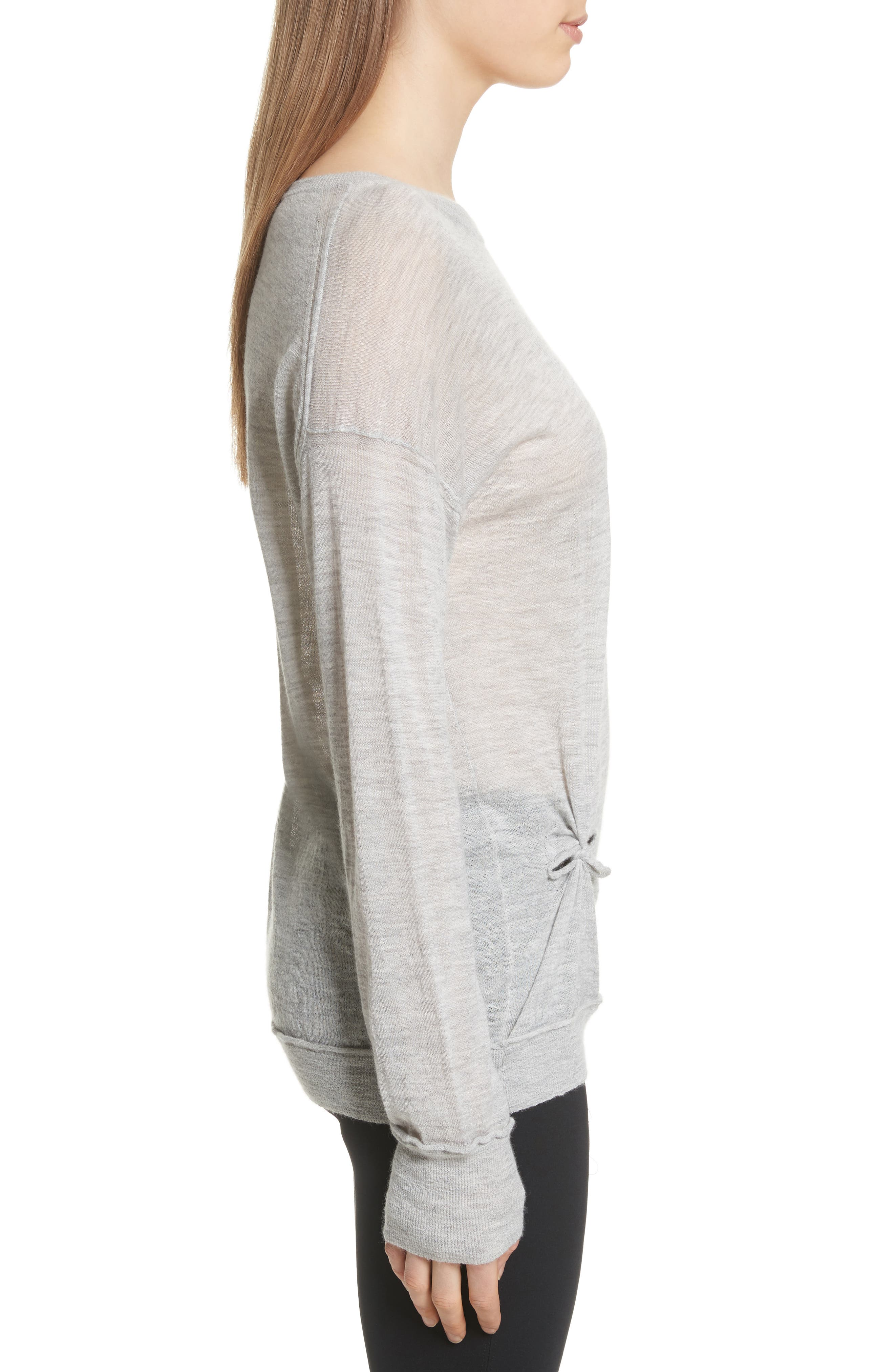 Alternate Image 3  - Helmut Lang Knot Detail Cashmere Sweater