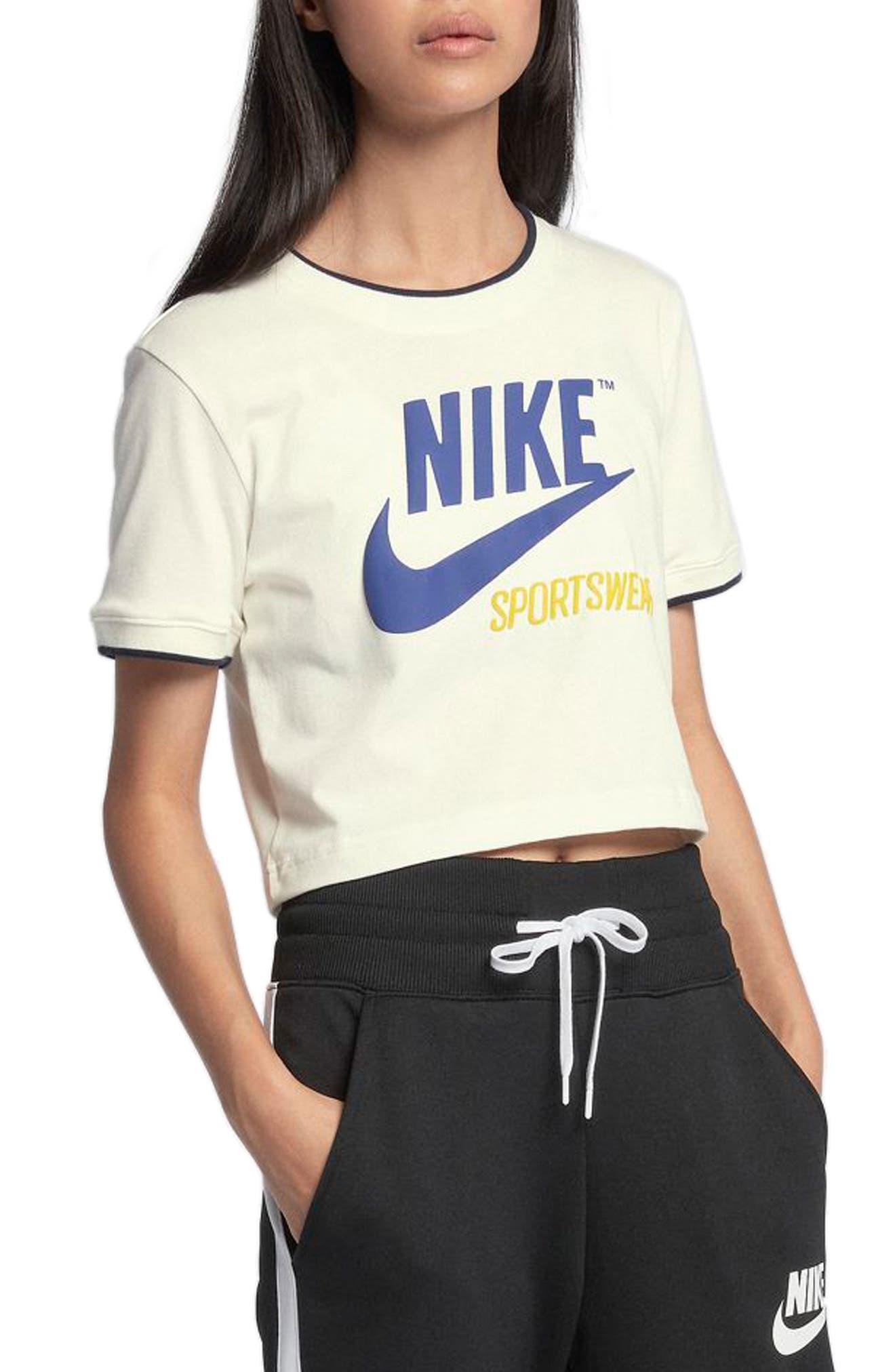 Sportswear Crop Top,                             Main thumbnail 1, color,                             Sail
