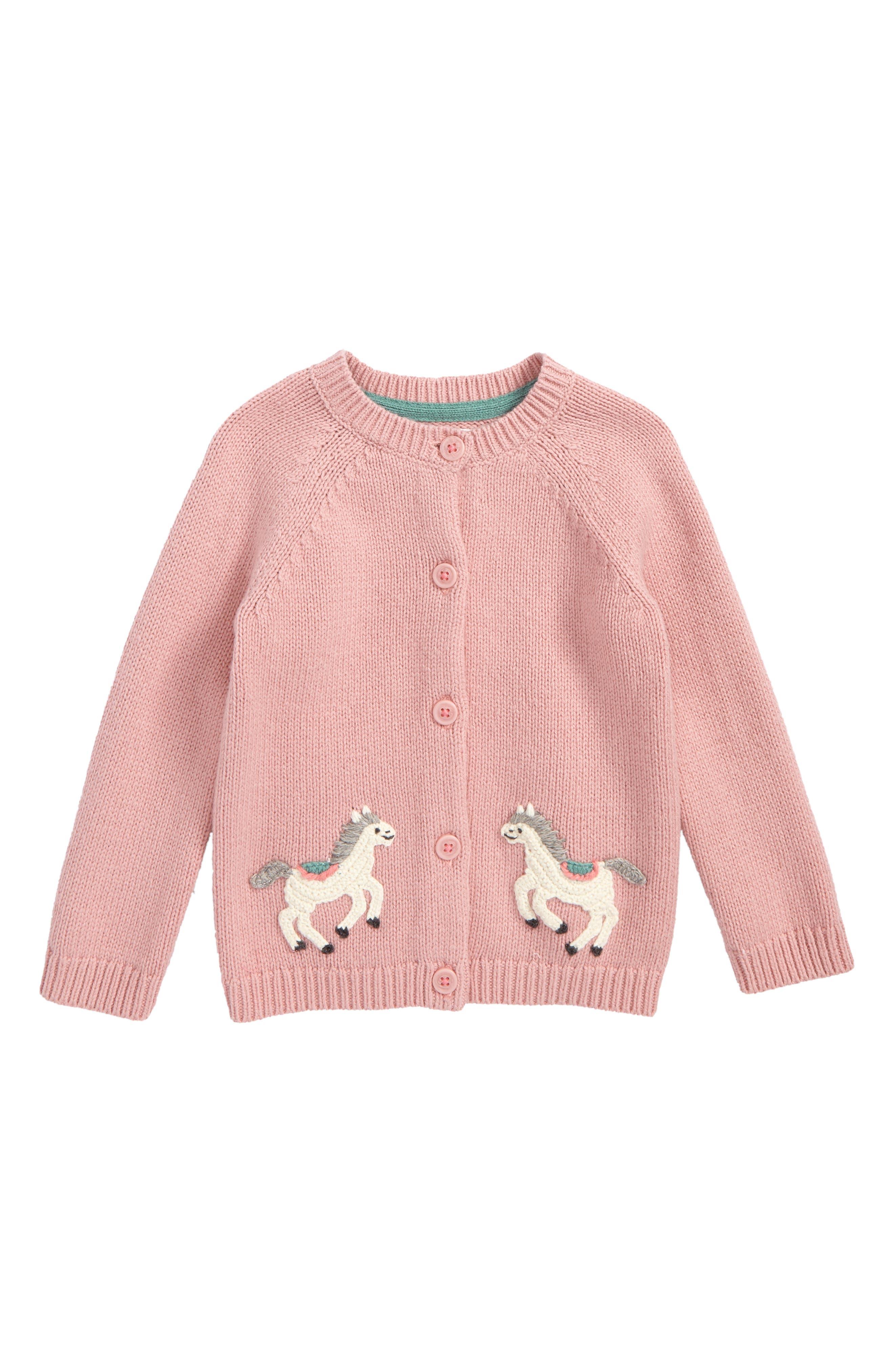 Crochet Pony Cardigan,                             Main thumbnail 1, color,                             Pink Almond Blossom