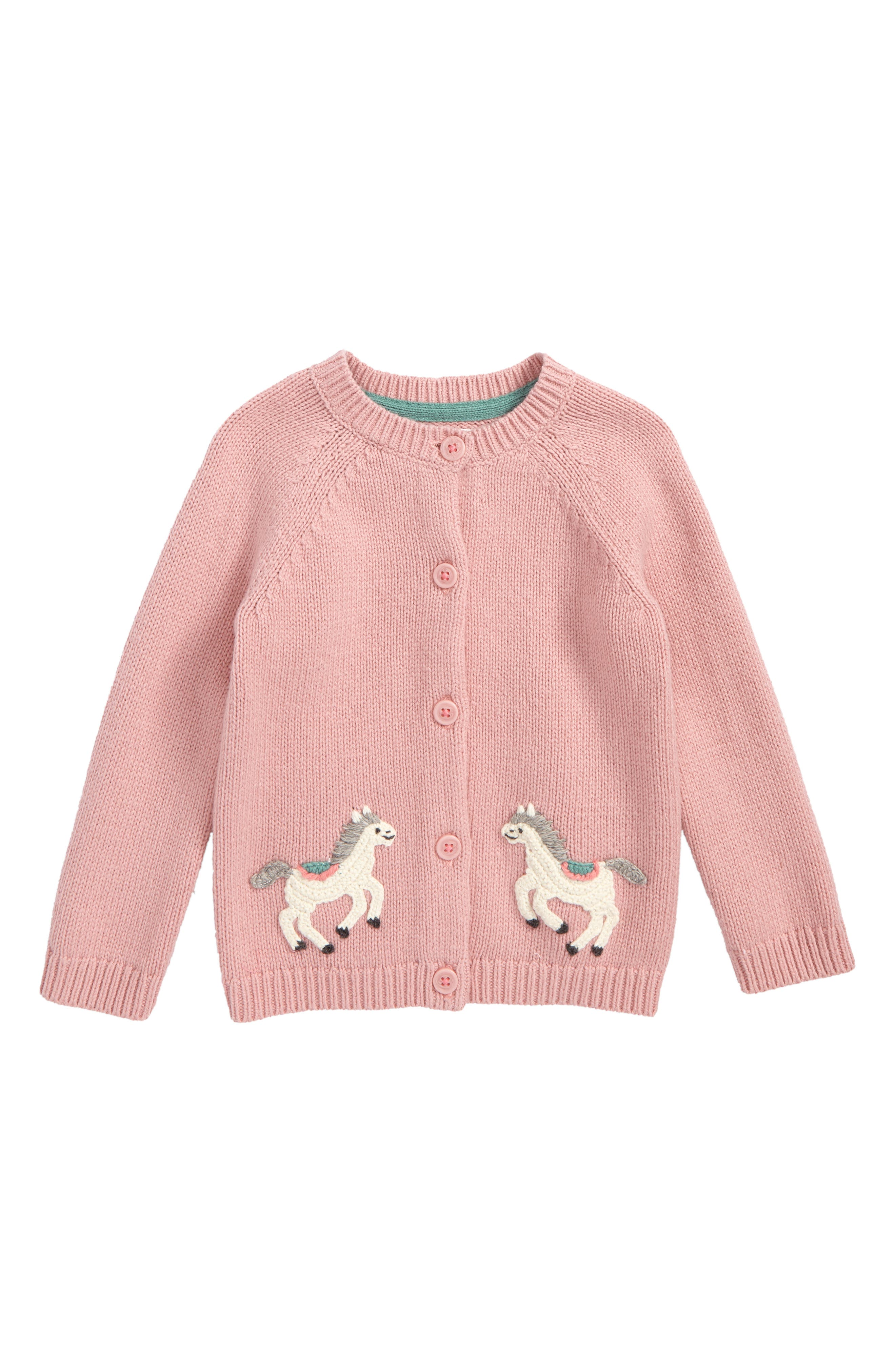 Mini Boden Crochet Pony Cardigan (Baby Girls & Toddler Girls)