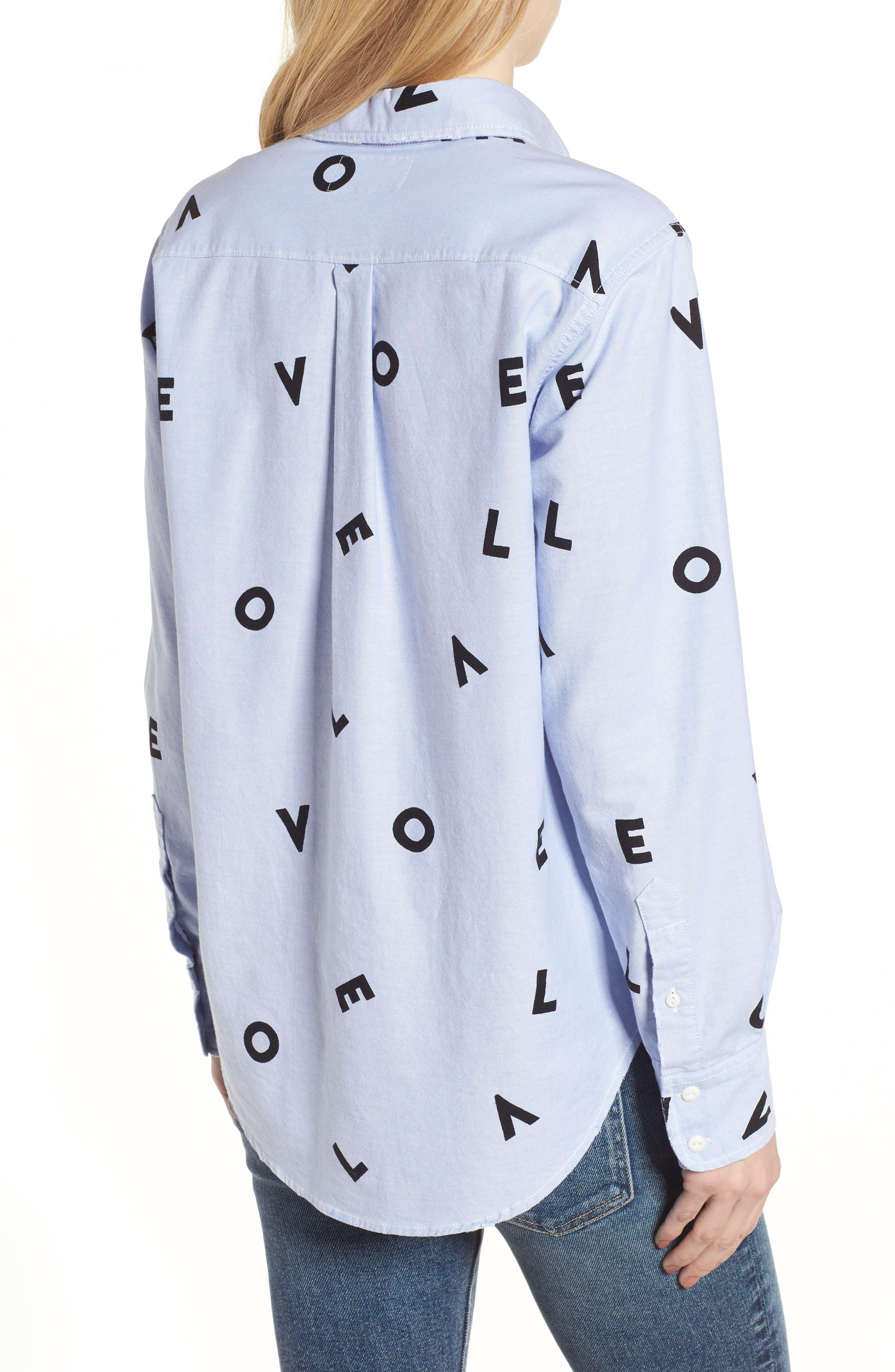 Alternate Image 2  - Current/Elliott The Derby Love Print Shirt