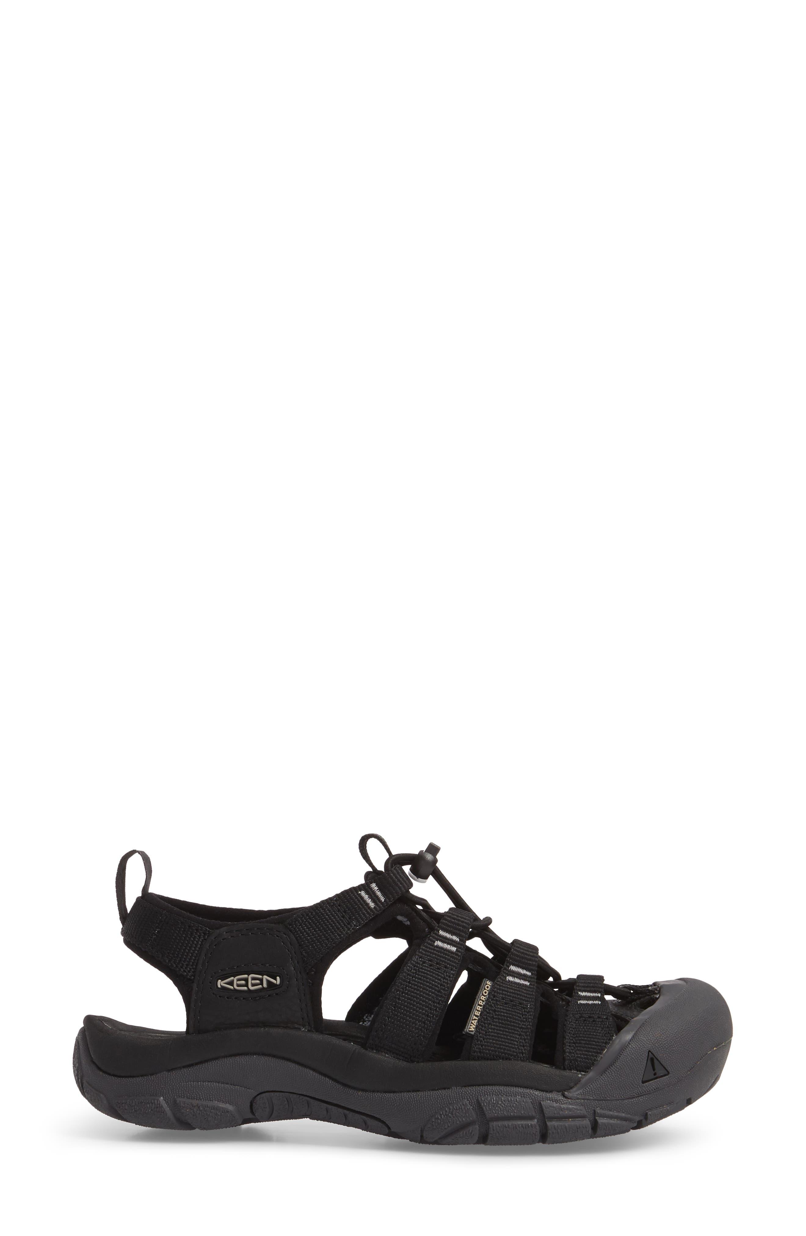 Newport Eco Waterproof Sandal,                             Alternate thumbnail 3, color,                             Black/ Magnet
