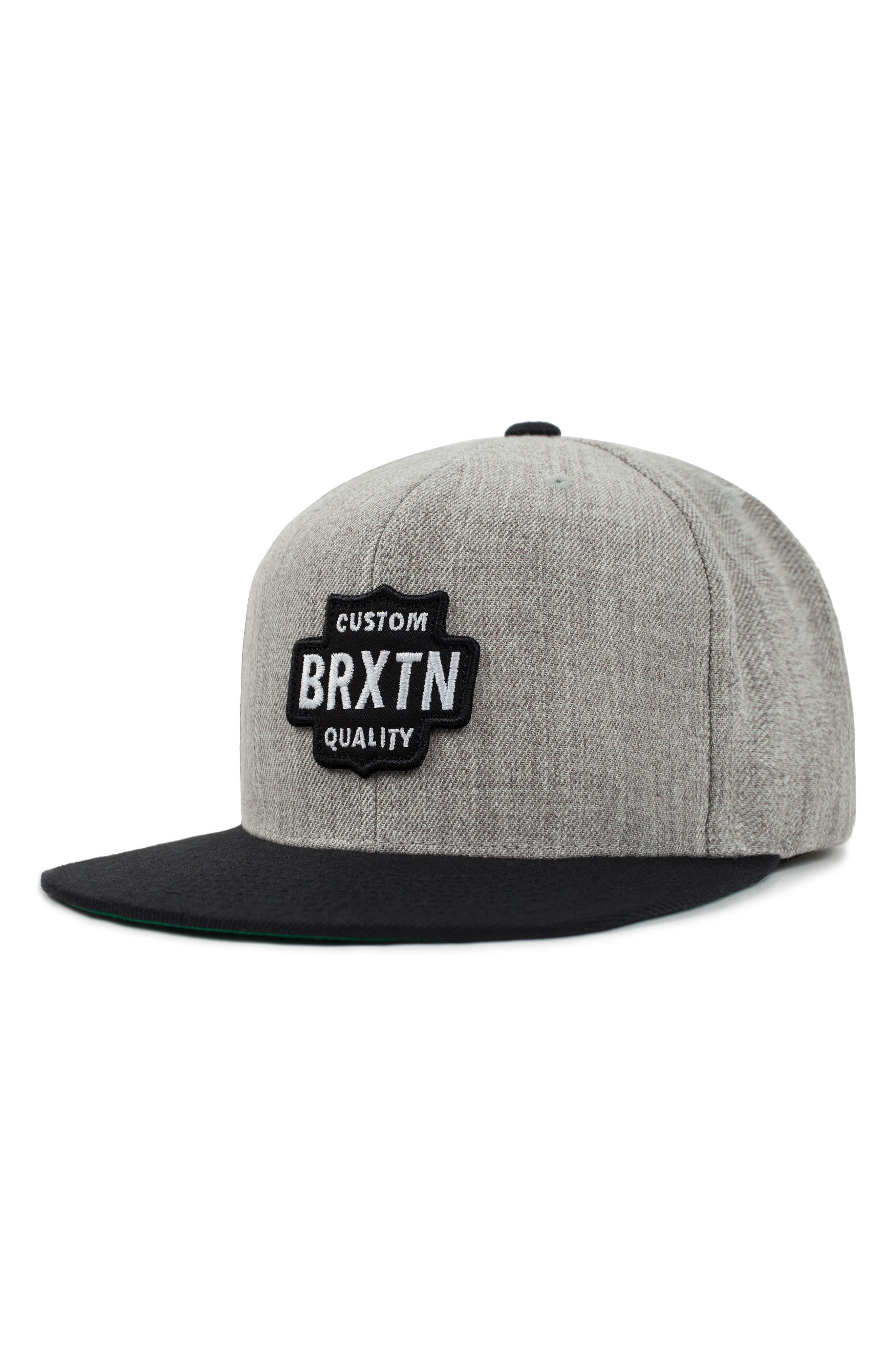Garth Flat Brimmed Cap,                         Main,                         color, Light Heather Grey/ Black