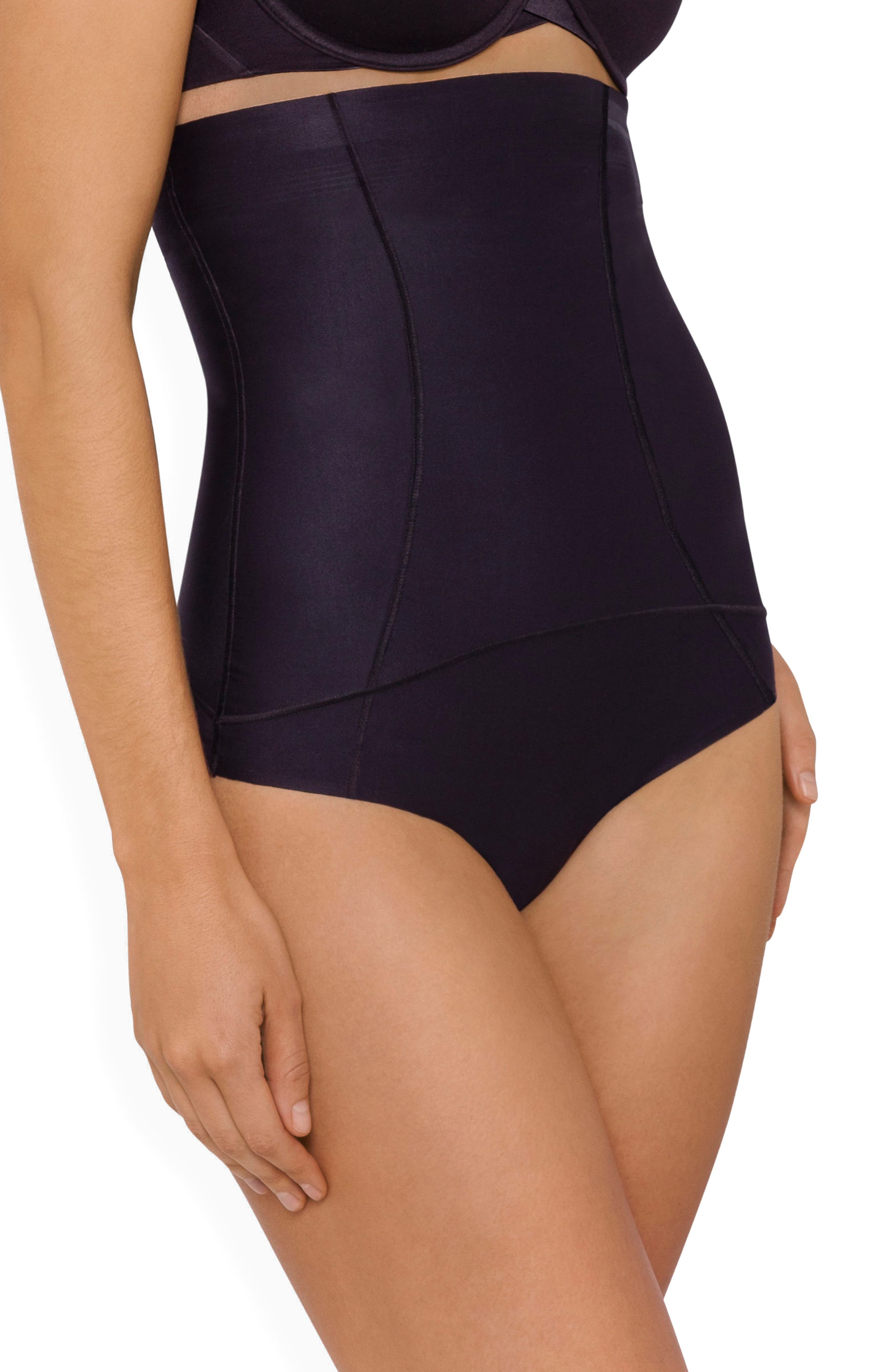 Body Architect High Waist Shaper Thong,                             Alternate thumbnail 3, color,                             Black