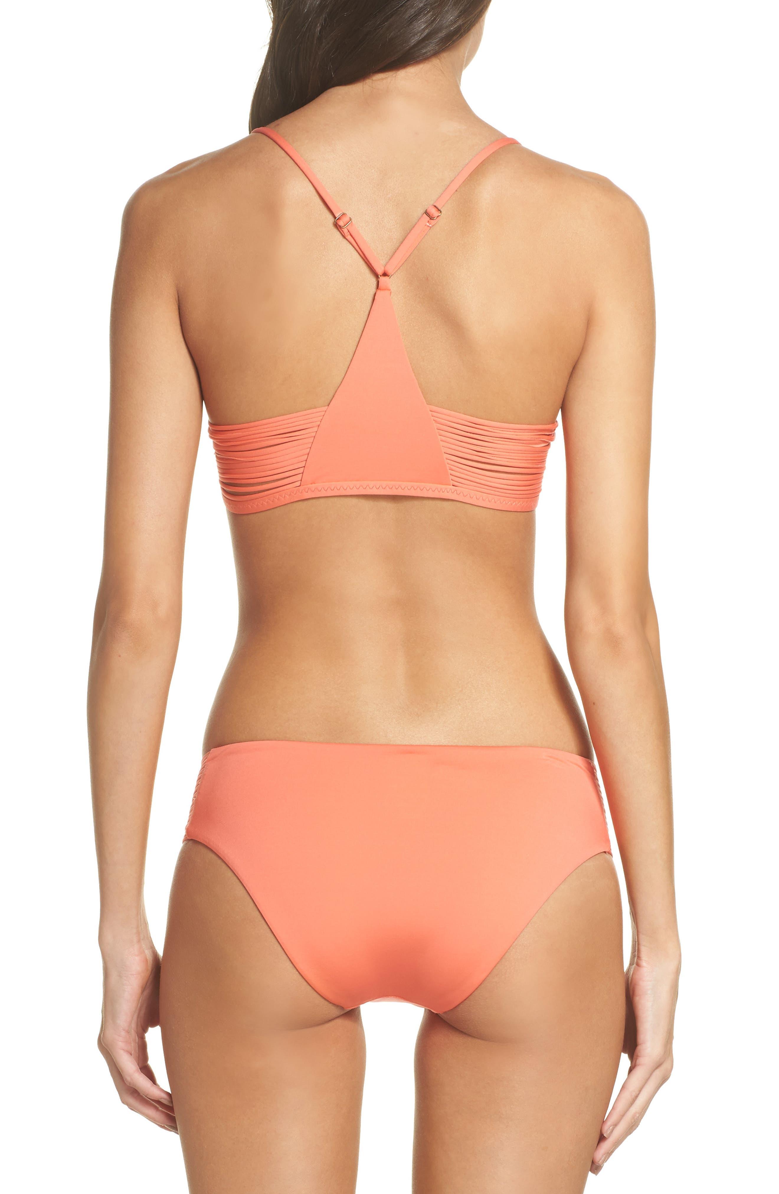 Beach Solids Maui Bikini Bottoms,                             Alternate thumbnail 6, color,                             Persimmon