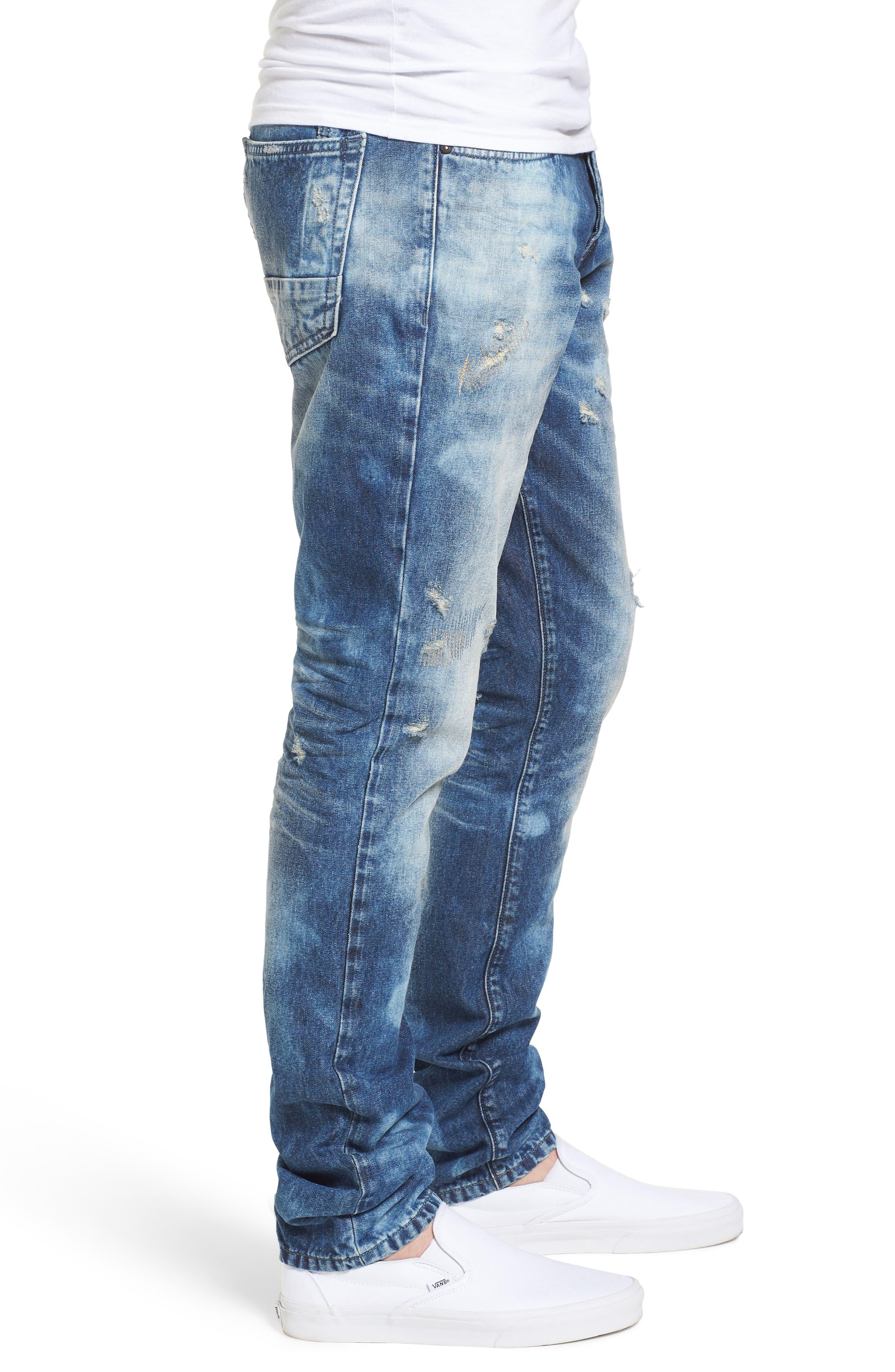 Le Sabre Slim Fit Jeans,                             Alternate thumbnail 3, color,                             Litany