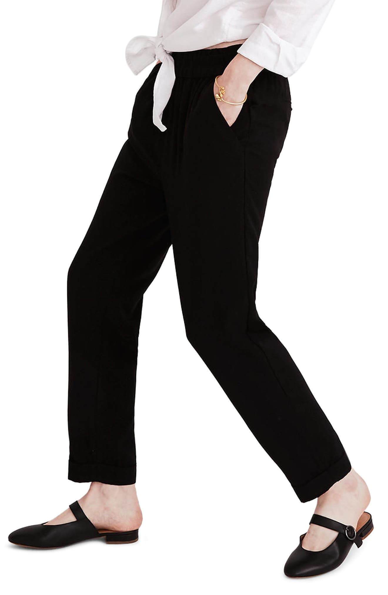 Cuffed Track Trousers,                             Alternate thumbnail 2, color,                             True Black