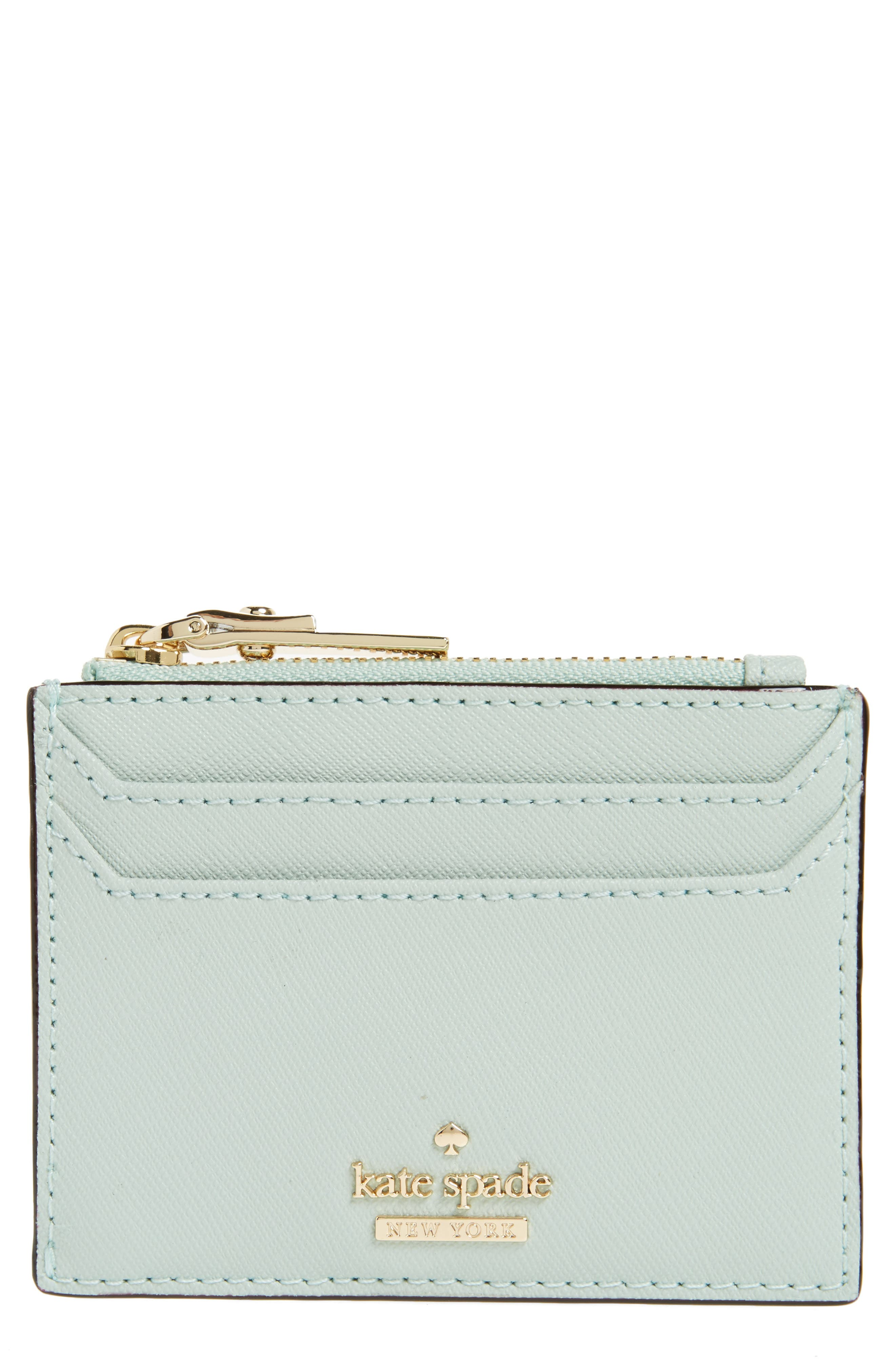 cameron street - lalena leather card case,                             Main thumbnail 1, color,                             Misty Mint