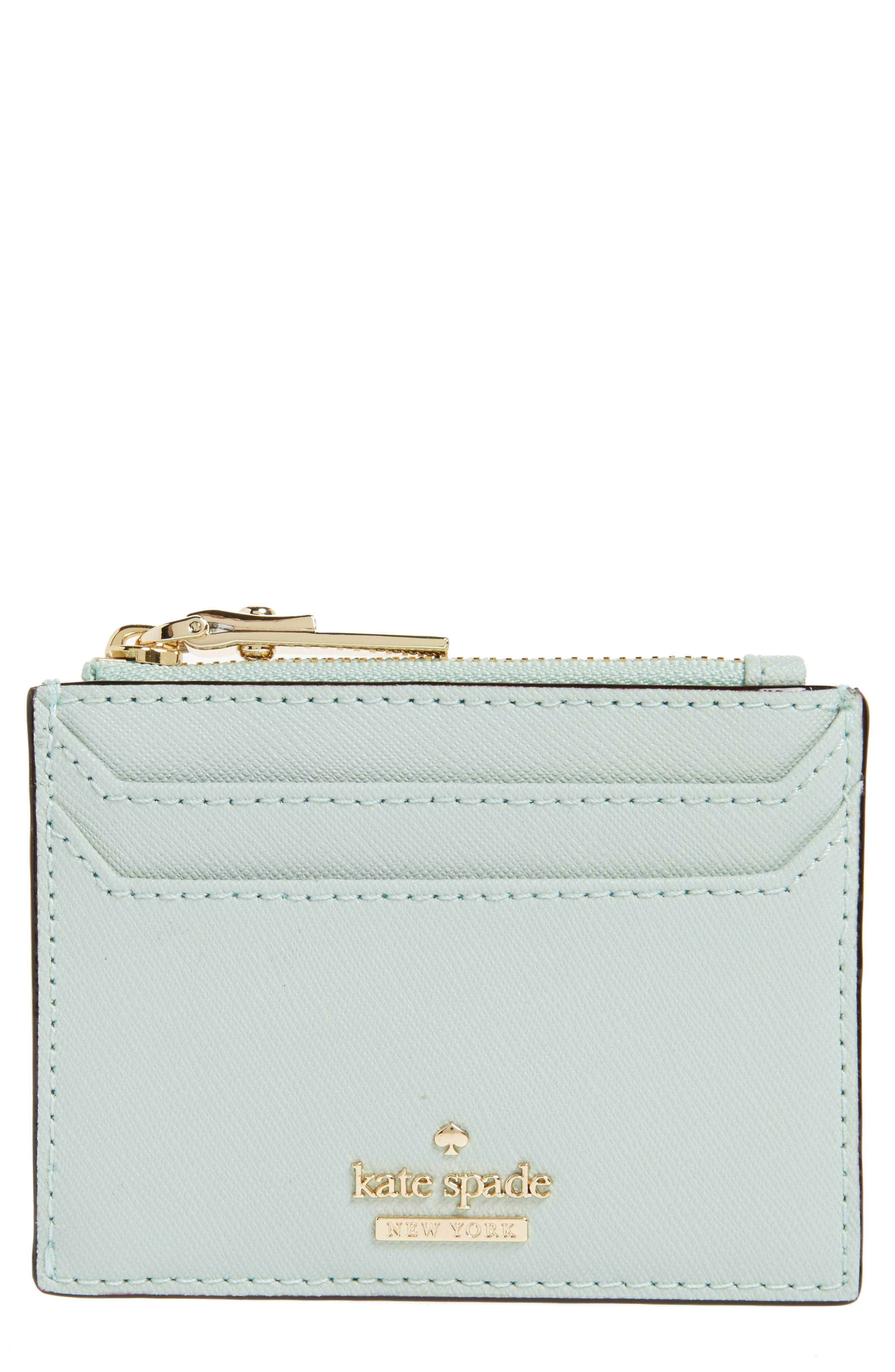 cameron street - lalena leather card case,                         Main,                         color, Misty Mint