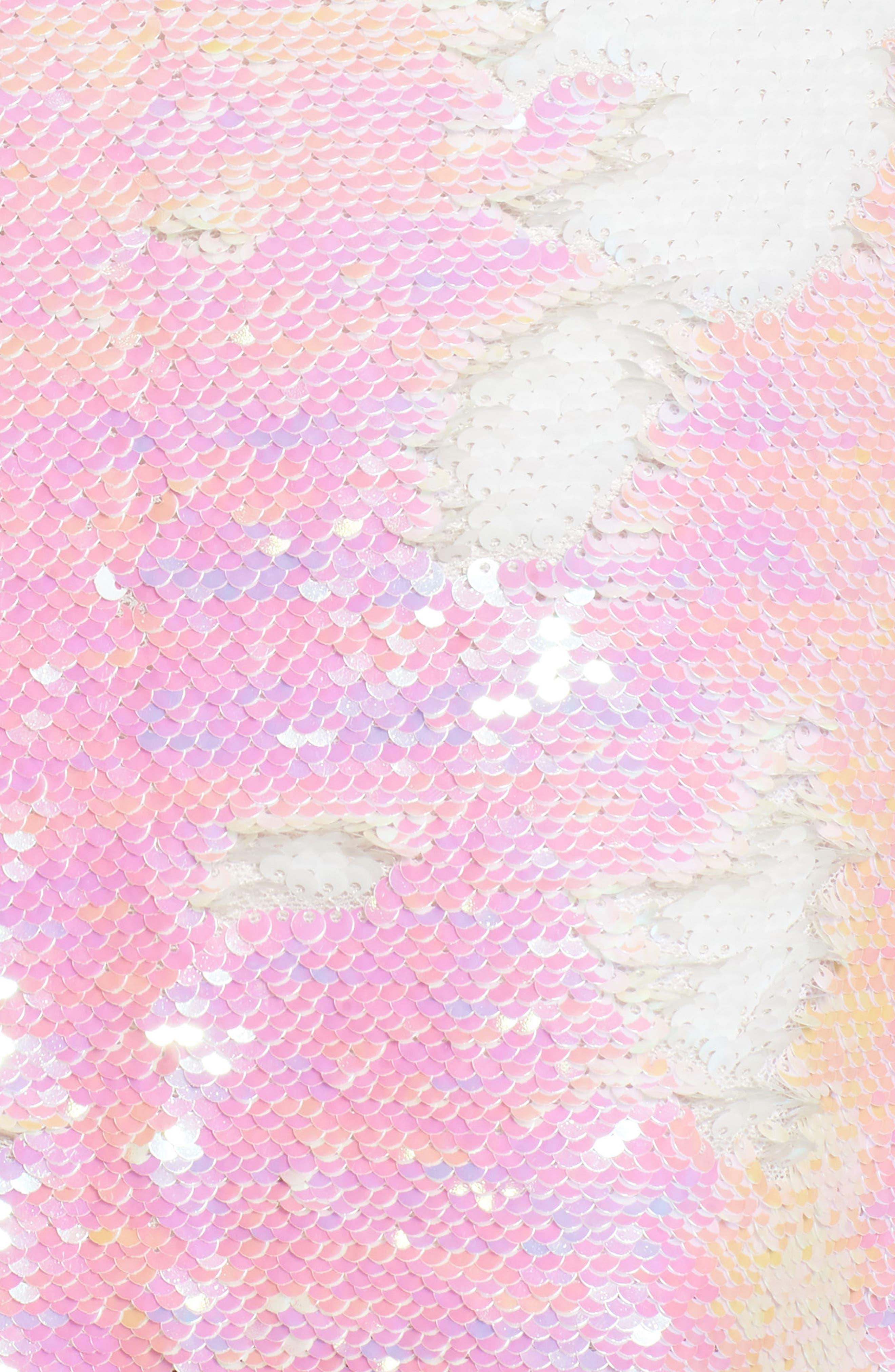 Kool Thing Sequin Skirt,                             Alternate thumbnail 5, color,                             Pink Multi