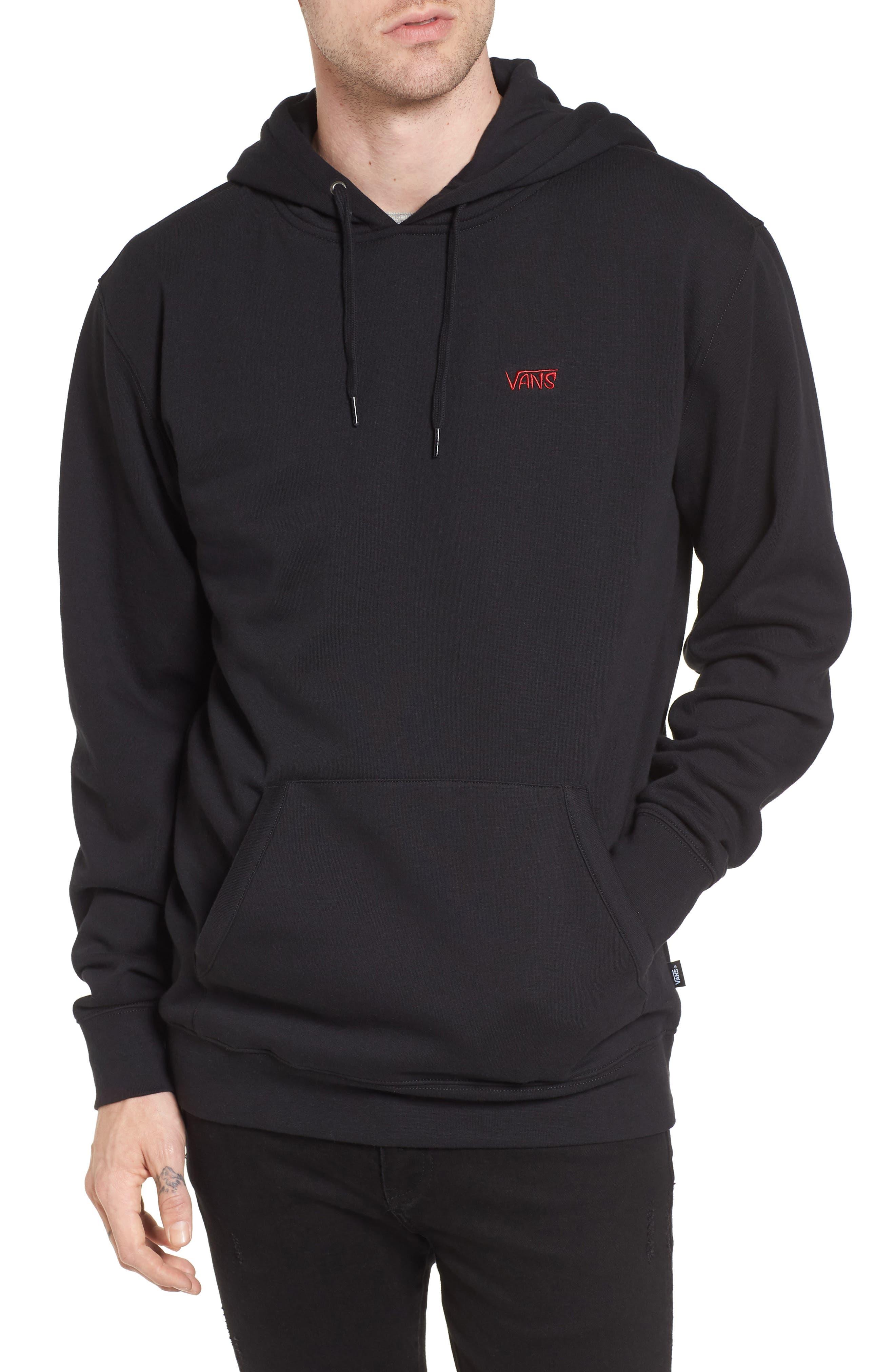 Sketch Tape Hoodie Sweatshirt,                         Main,                         color, Black