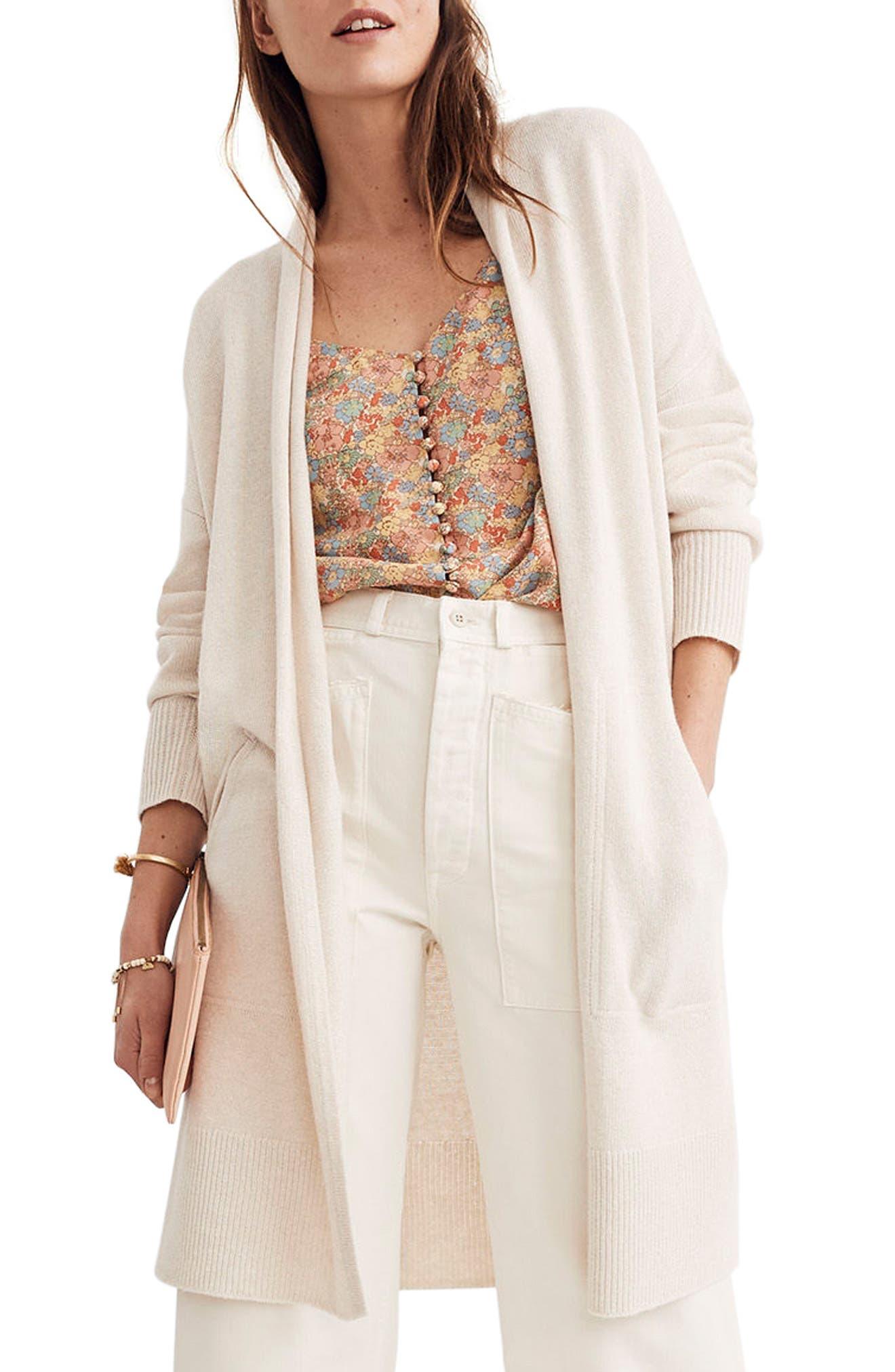 Rivington Lightweight Cardigan Sweater,                         Main,                         color, Heather Cement