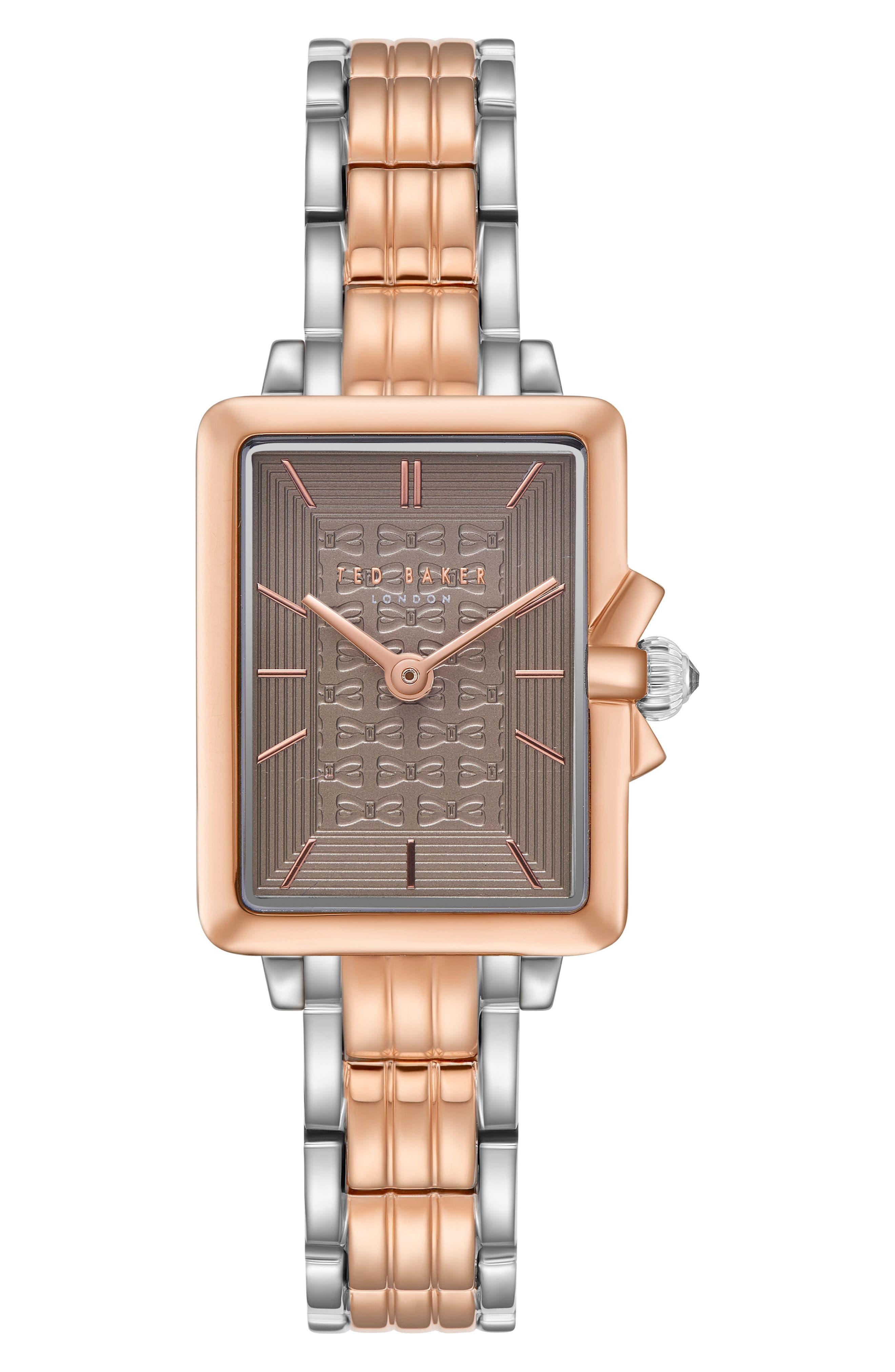 Tess Bracelet Watch, 20mm,                         Main,                         color, Silver/ Grey/ Rose Gold