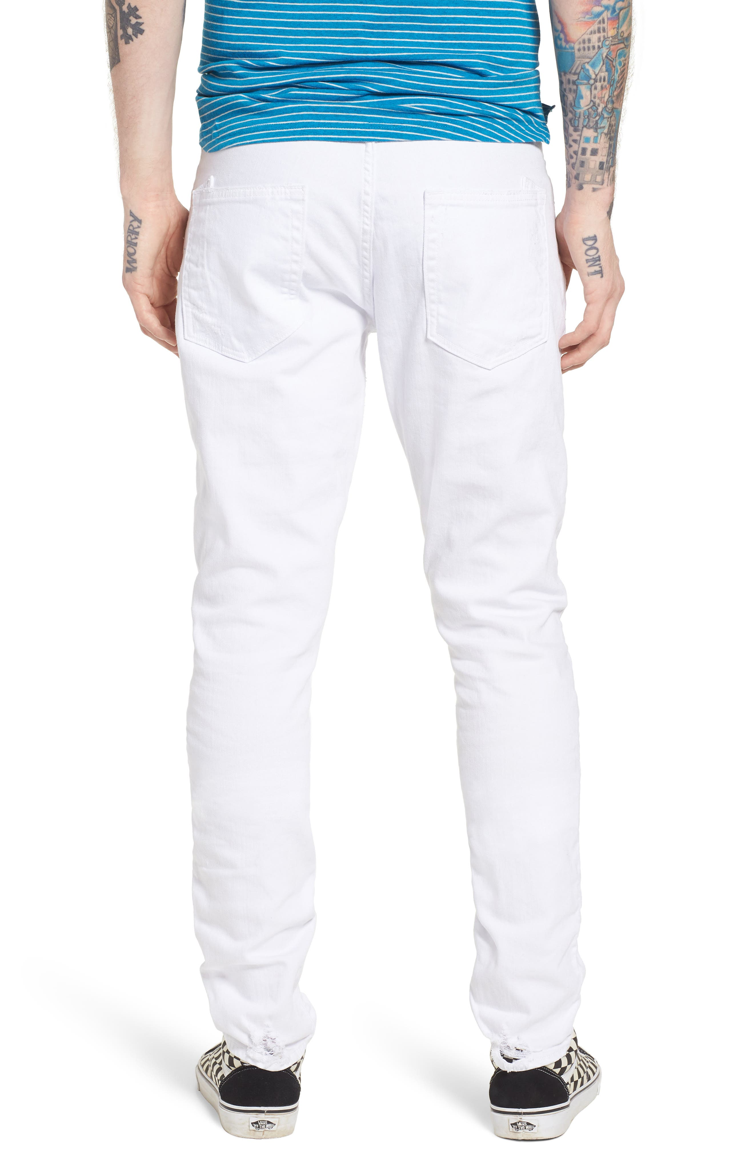 Windsor Slim Fit Jeans,                             Alternate thumbnail 2, color,                             Living White