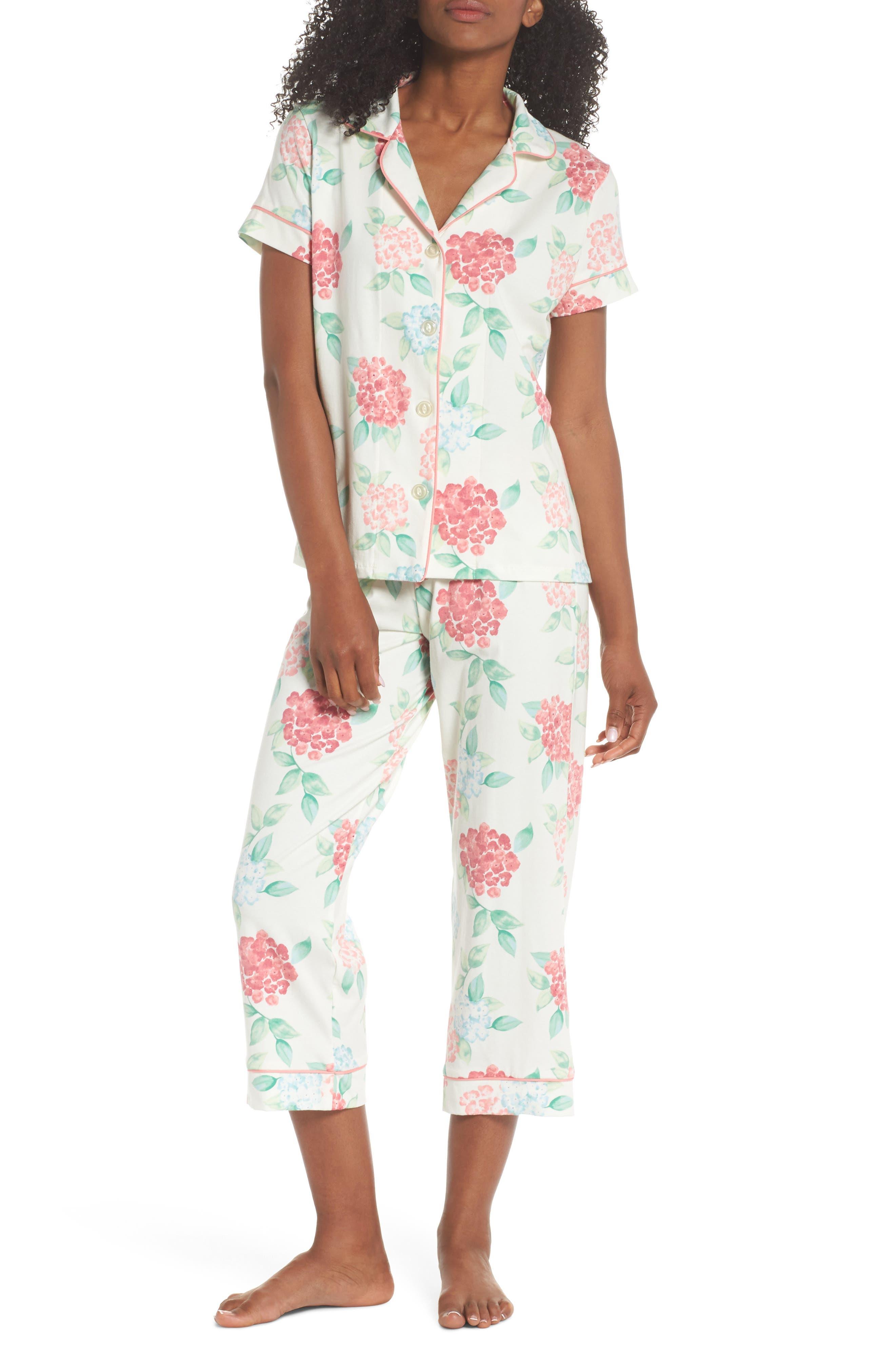 Crop Pajamas,                             Main thumbnail 1, color,                             Hydrangea