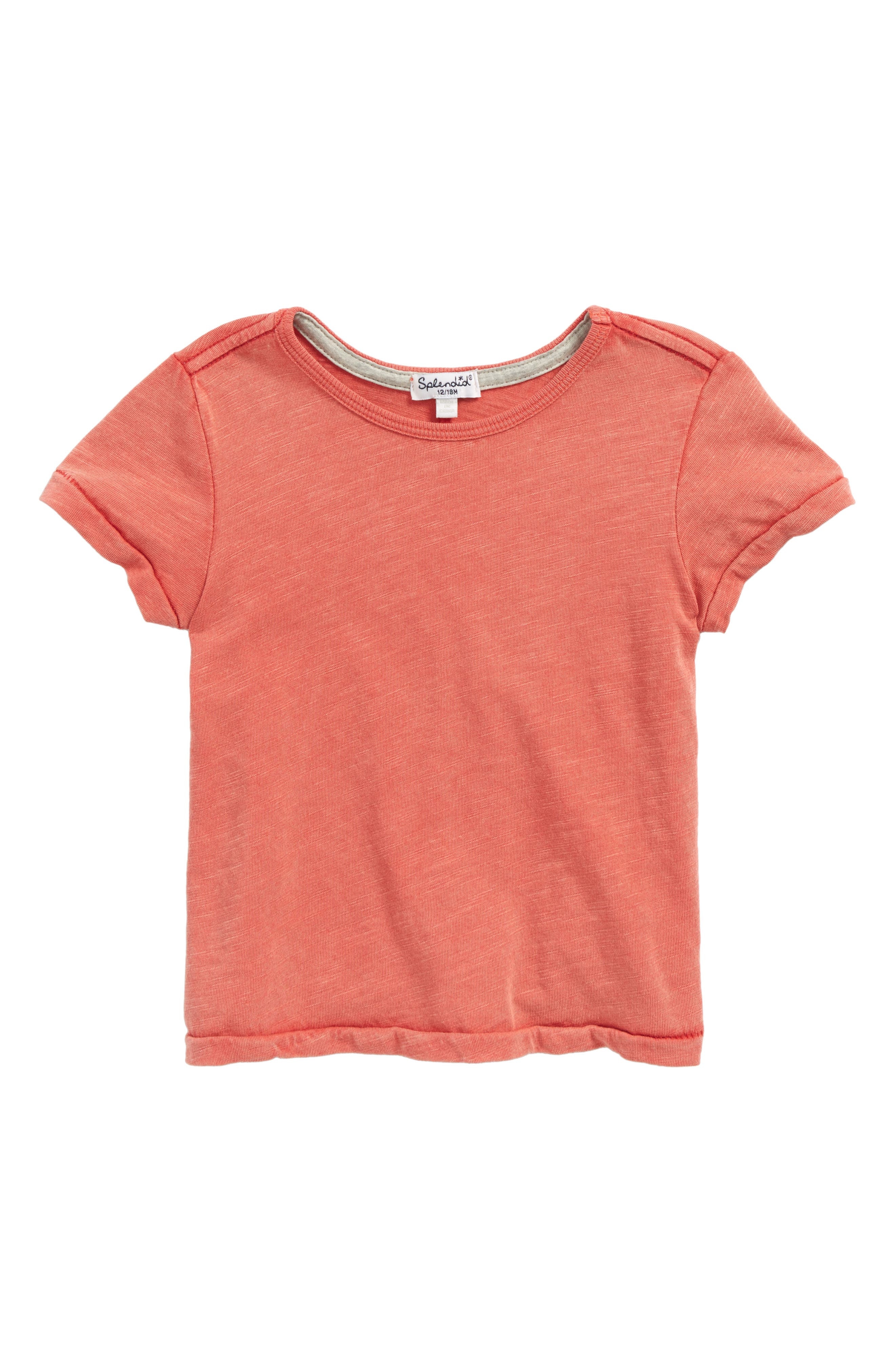 Washed Slub Jersey T-Shirt,                             Main thumbnail 1, color,                             Red Sequoia