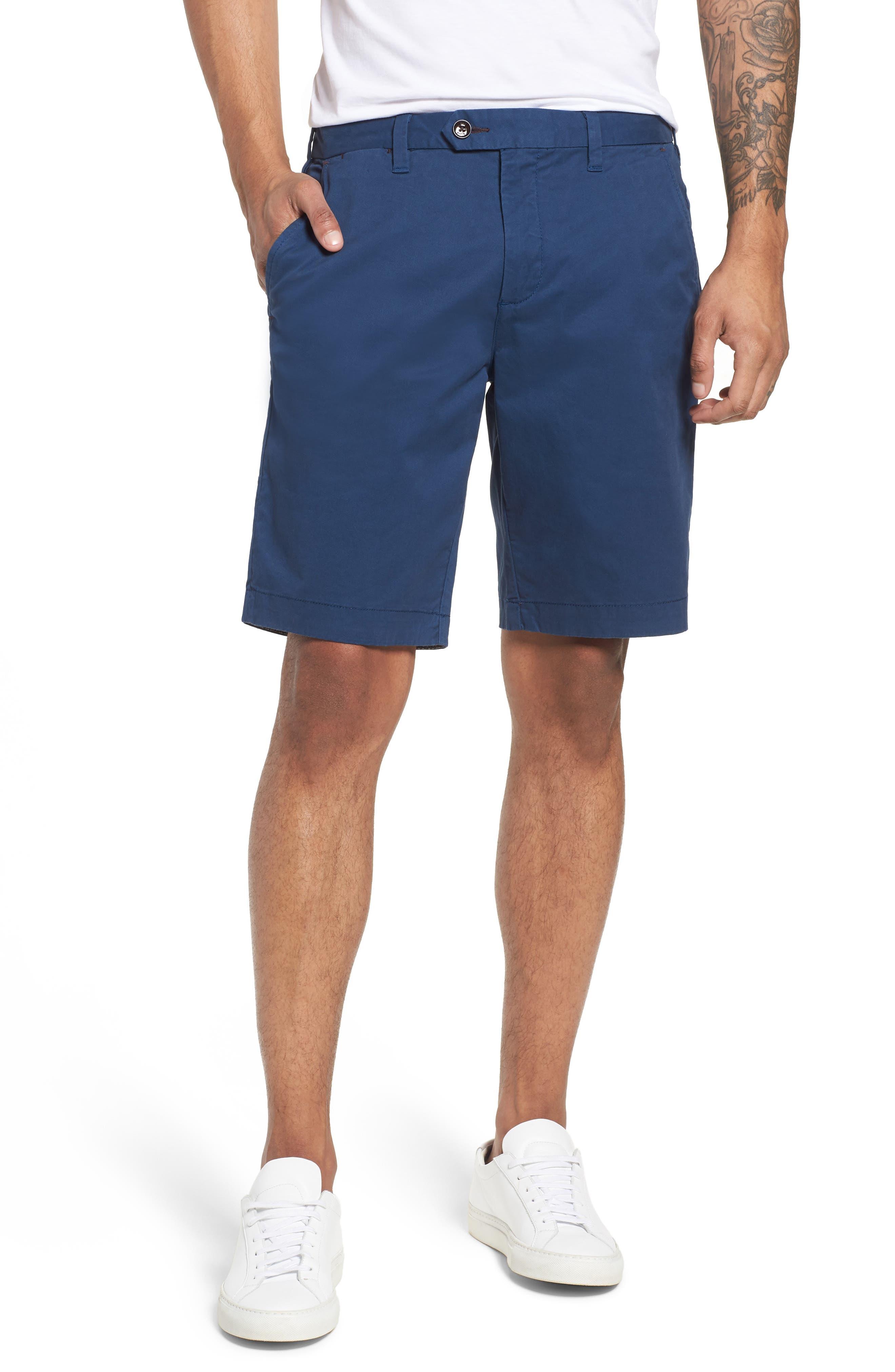 Proshor Slim Fit Chino Shorts,                             Main thumbnail 1, color,                             Dark Blue