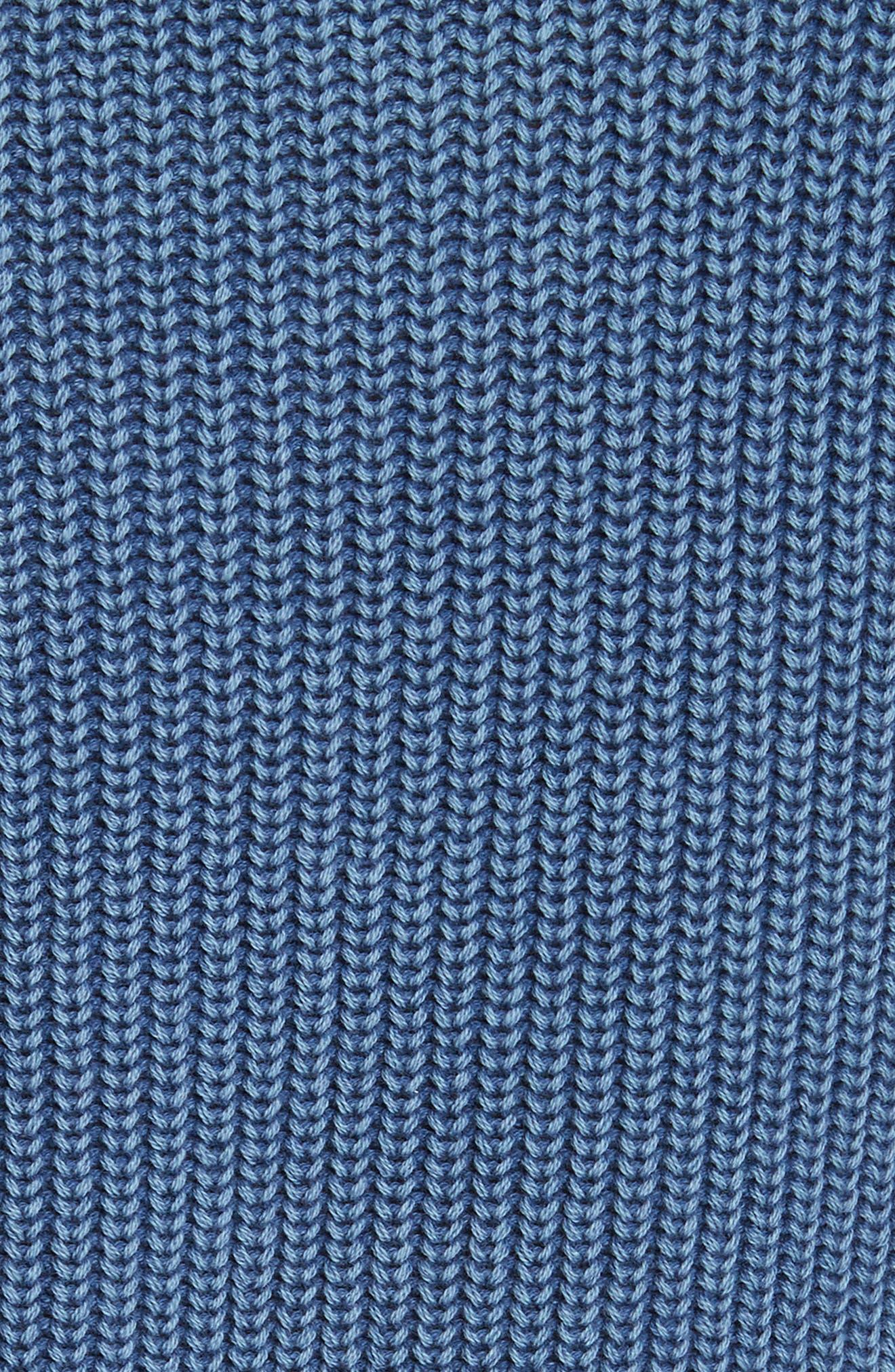 Dawn Off the Shoulder Knit Top,                             Alternate thumbnail 5, color,                             Indigo