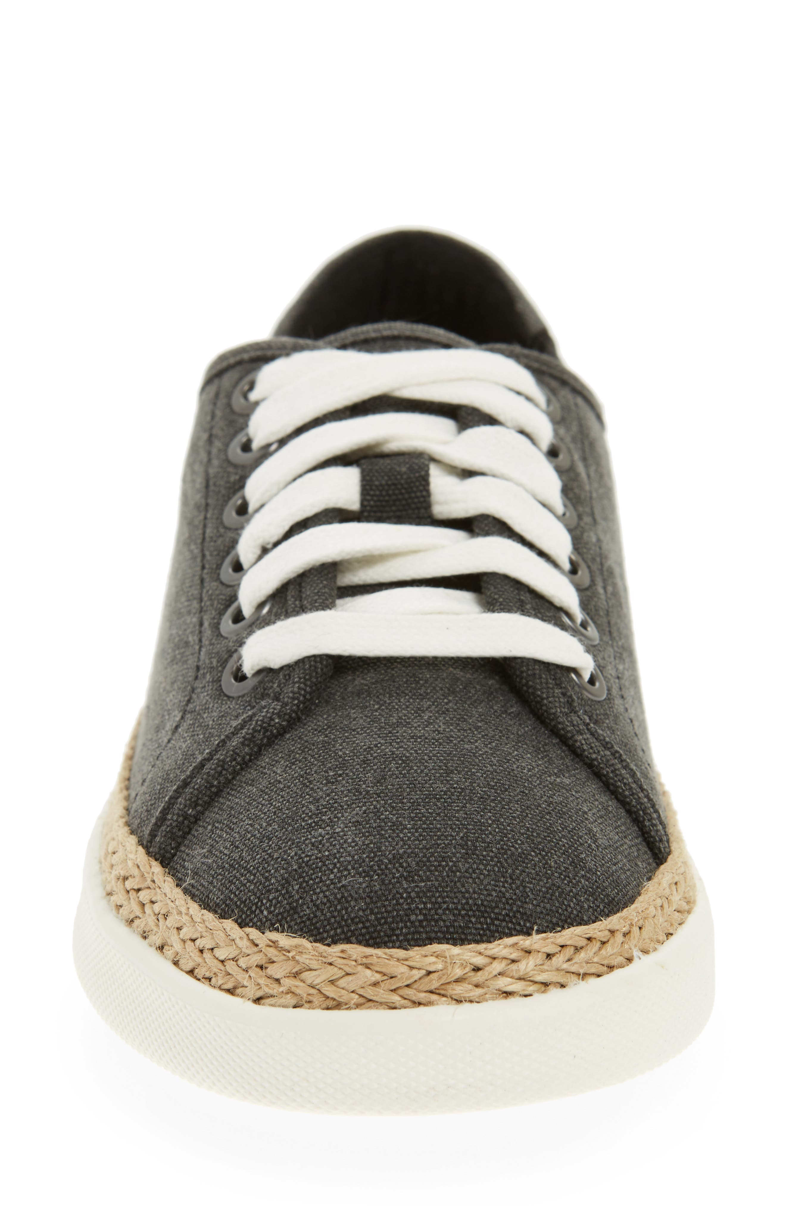 Hattie Sneaker,                             Alternate thumbnail 4, color,                             Black Canvas