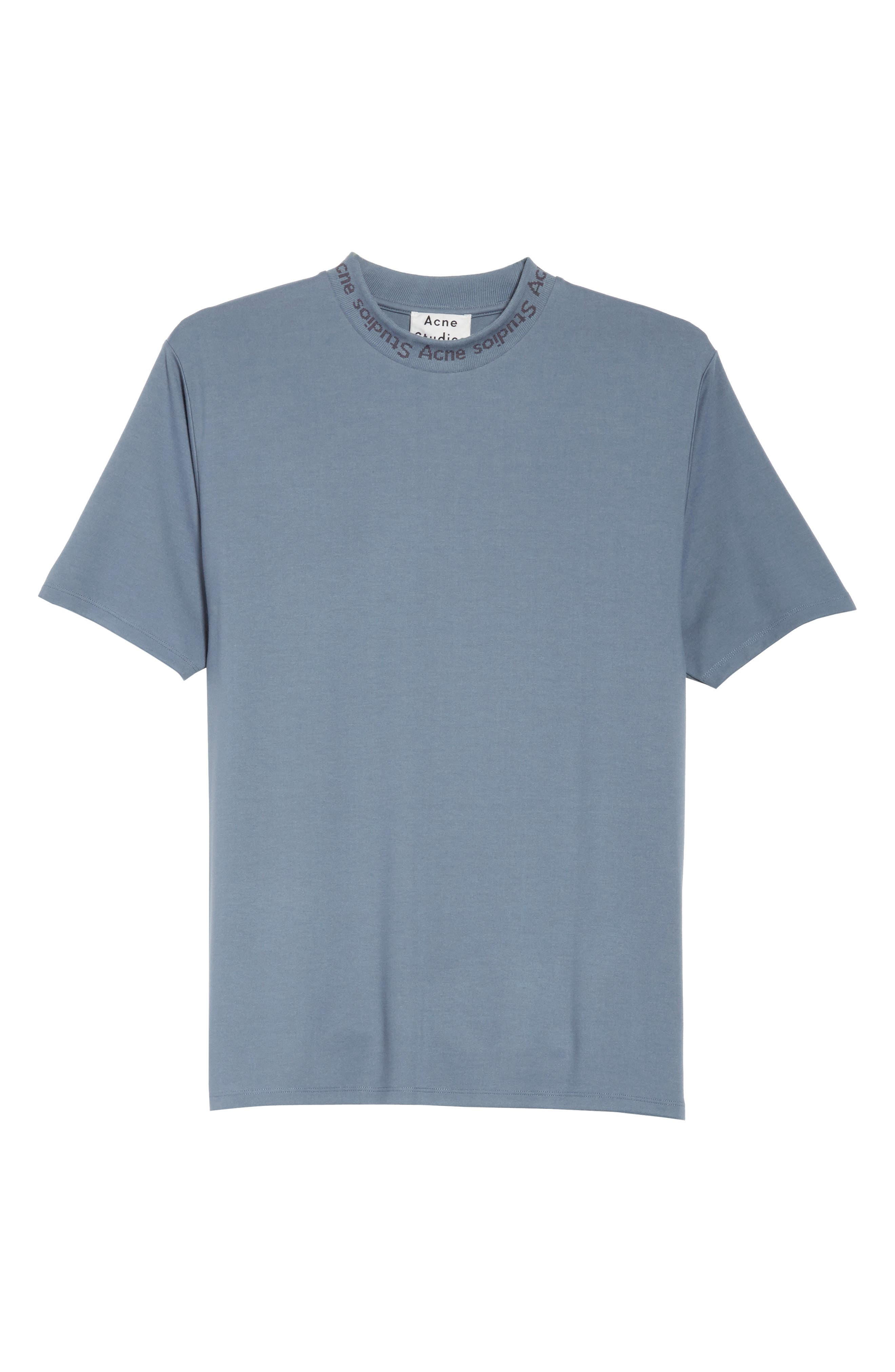 Navid Logo Collar T-Shirt,                             Alternate thumbnail 6, color,                             Pigeon Blue