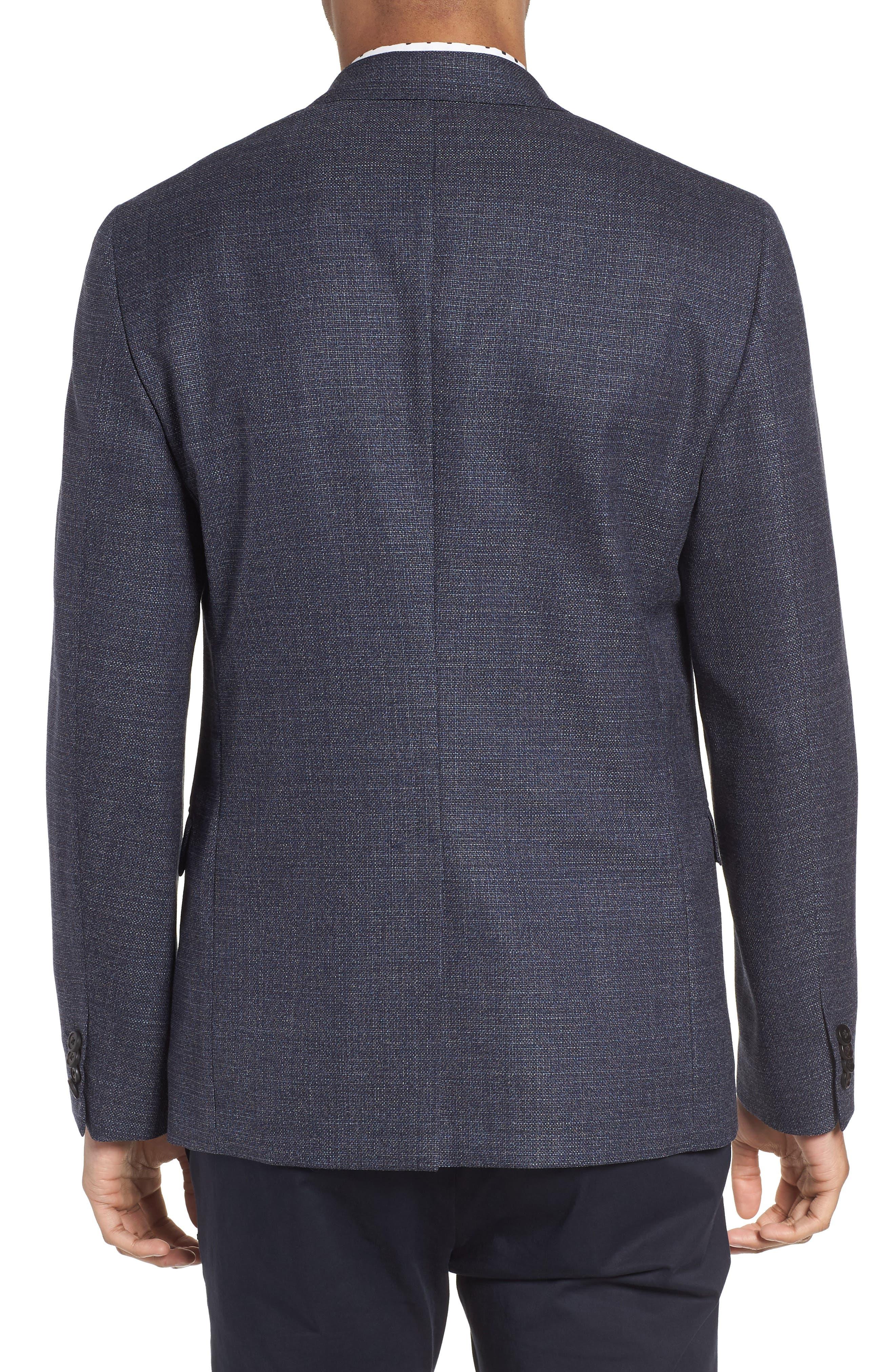 Gansevoort Regular Fit Wool Blazer,                             Alternate thumbnail 2, color,                             Storm