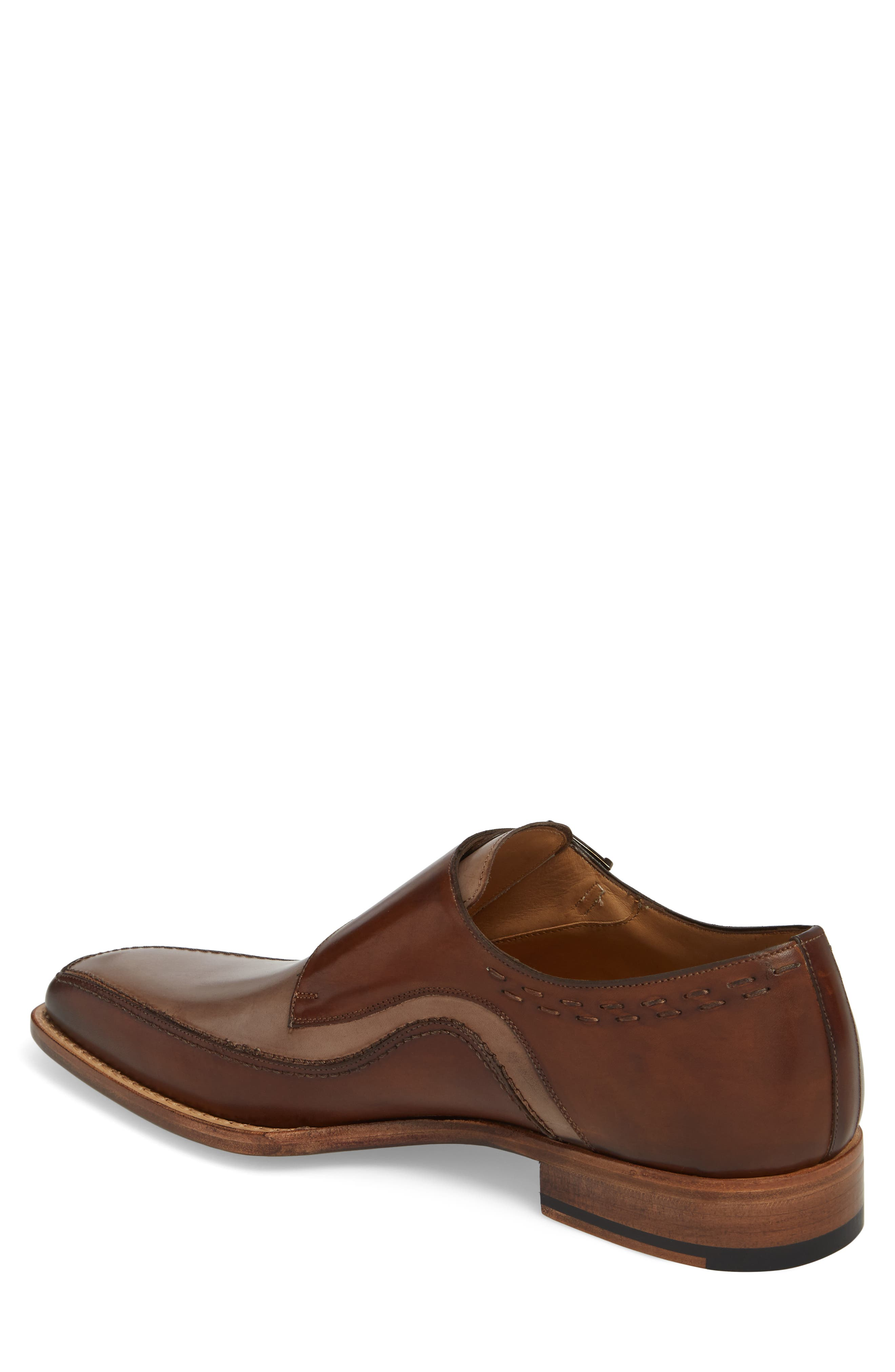 Magno Double Monk Strap Shoe,                             Alternate thumbnail 2, color,                             Brown Leather