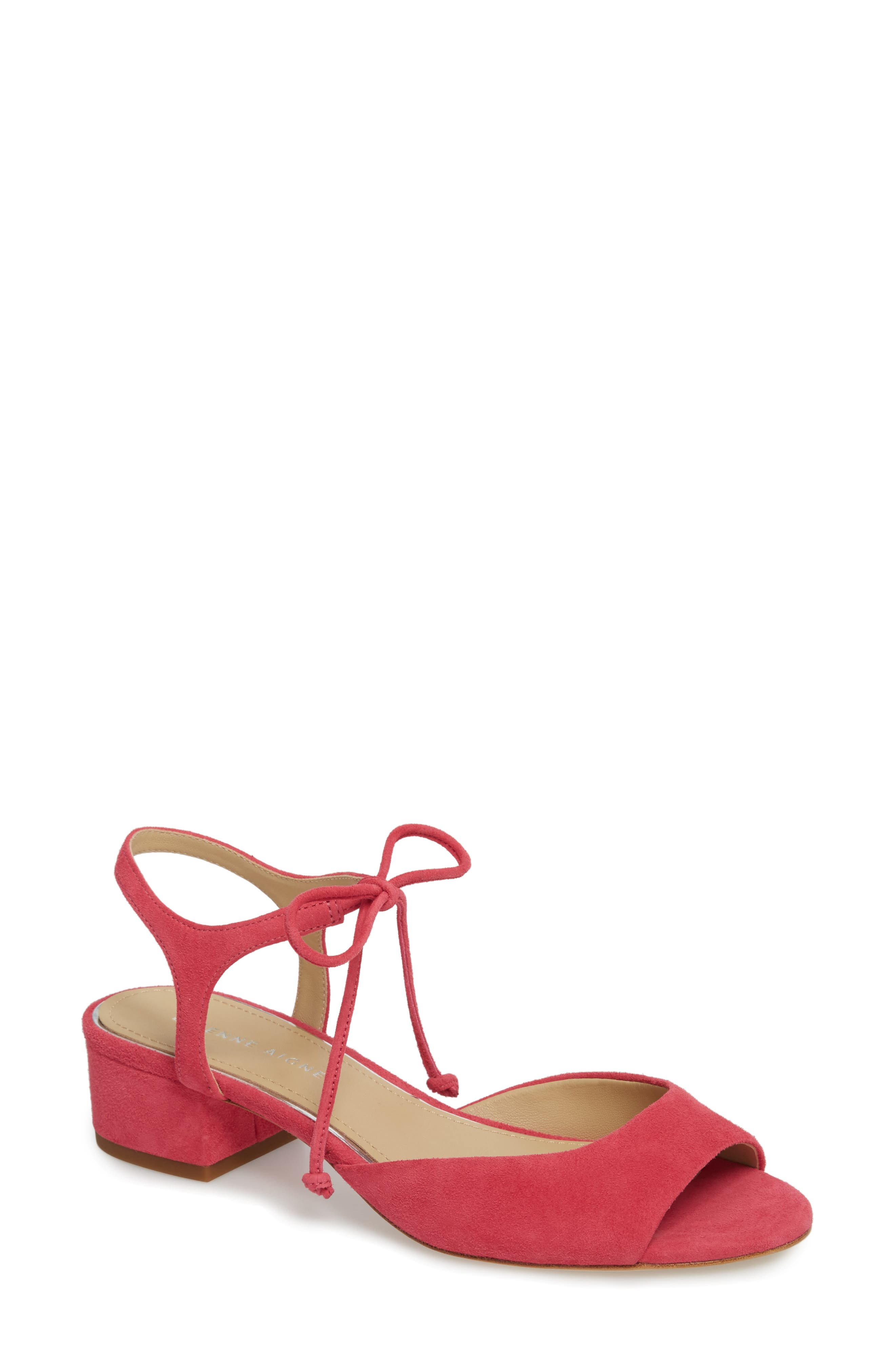 Belize Strappy Sandal,                         Main,                         color, Peony Suede