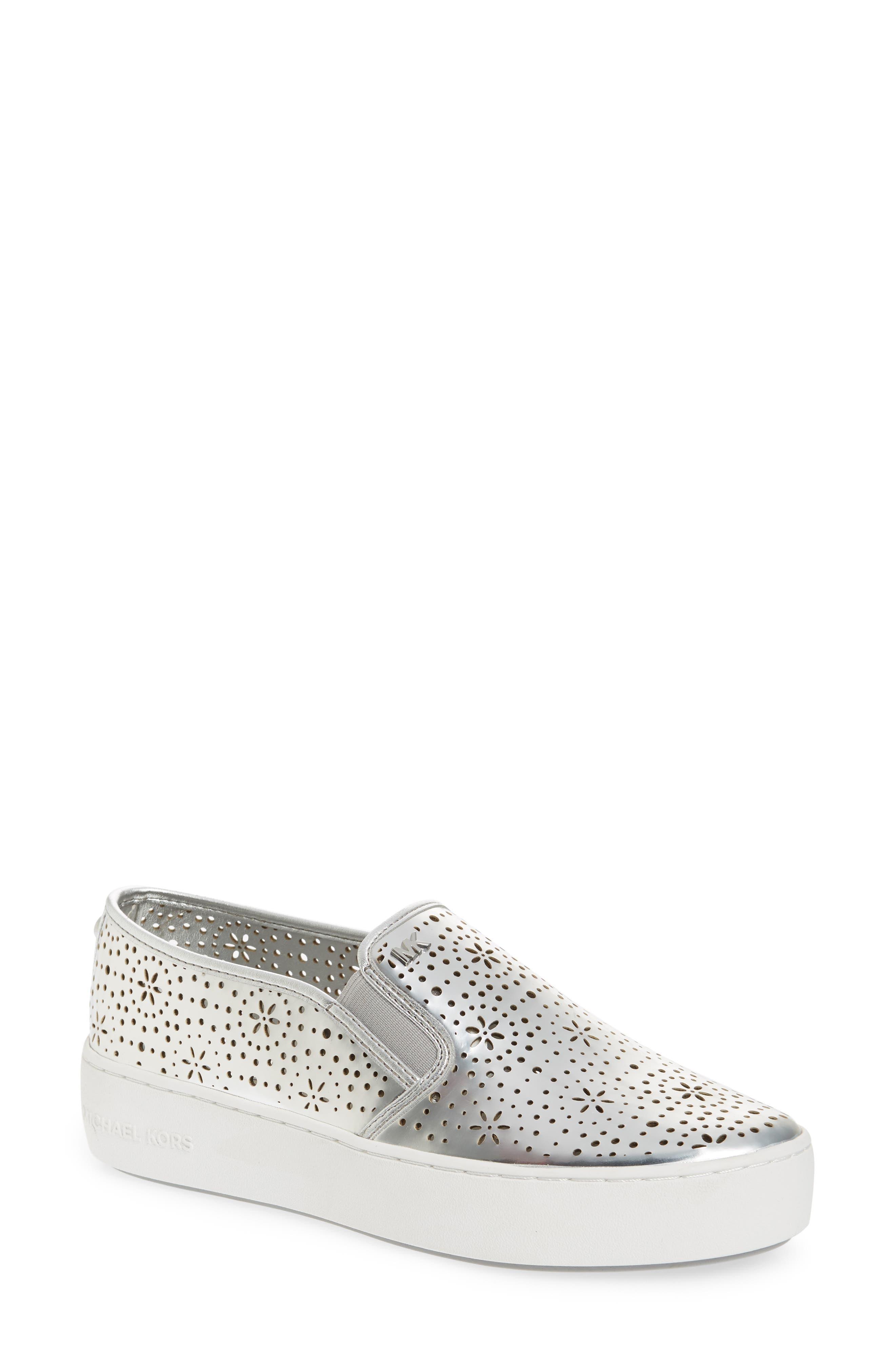Trent Slip-On Sneaker,                         Main,                         color, Silver
