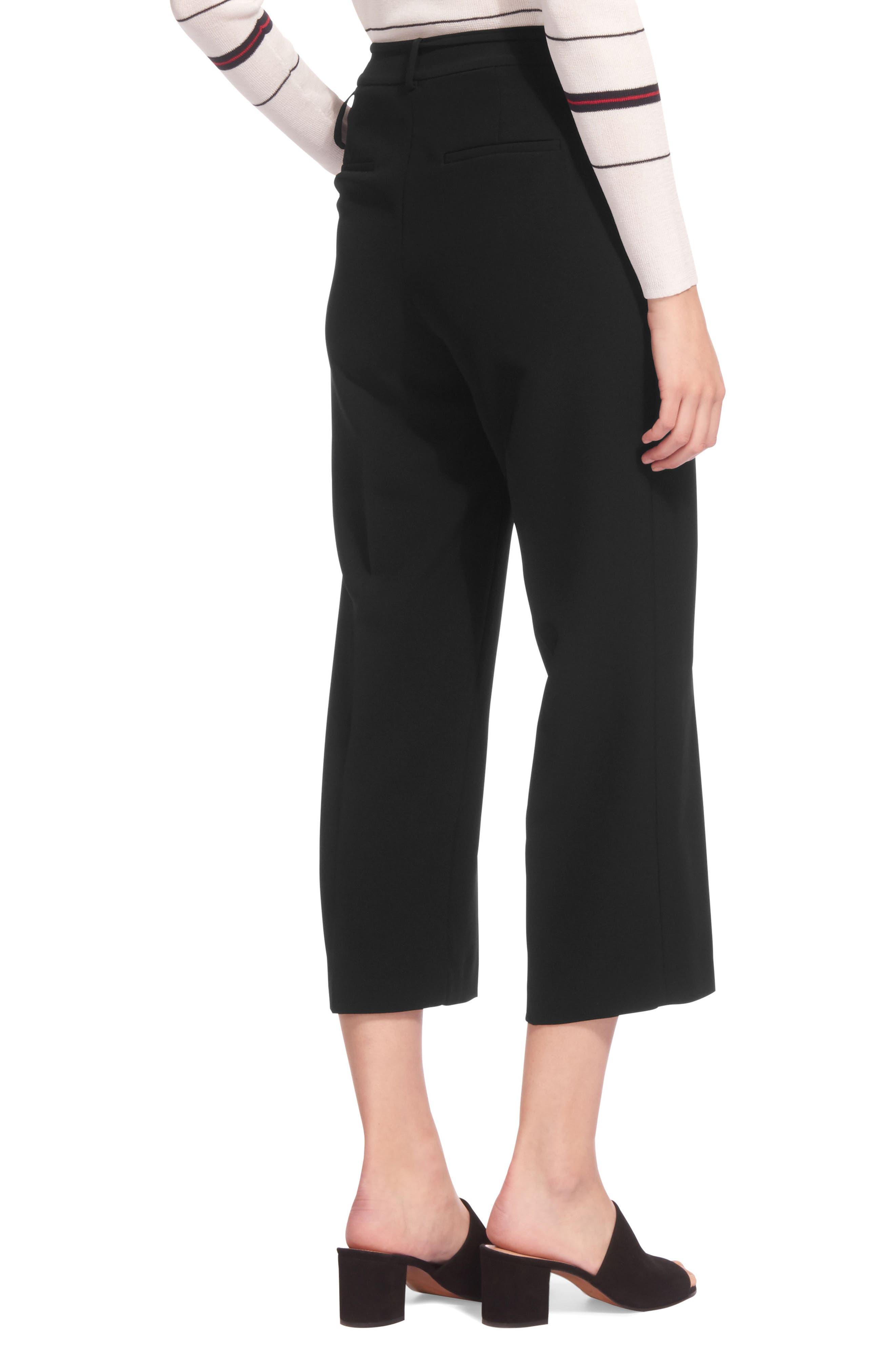 Side Tie Crop Pants,                             Alternate thumbnail 2, color,                             Black